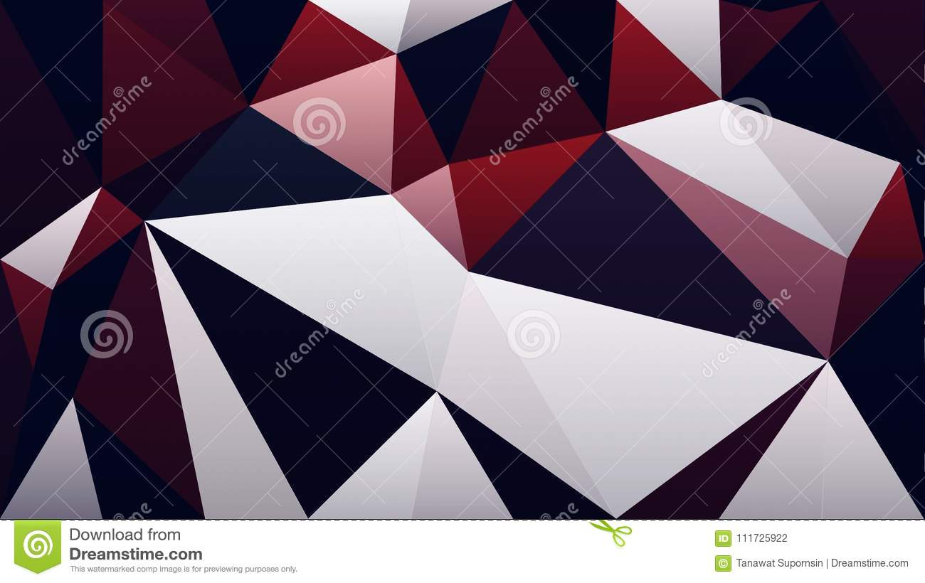 abstract red white black color polygon triangle wallpaper stock