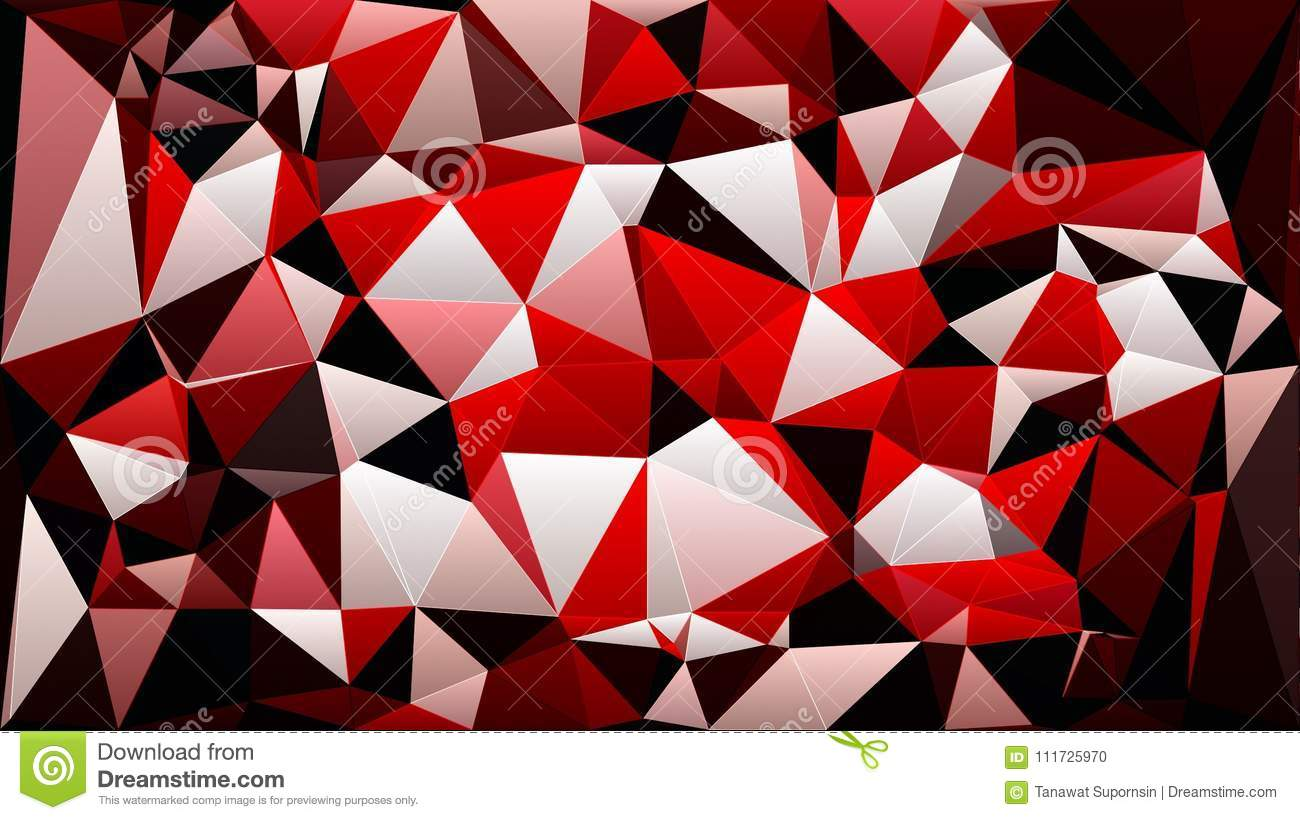 Abstract Red White Black Color Polygon Triangle Wallpaper