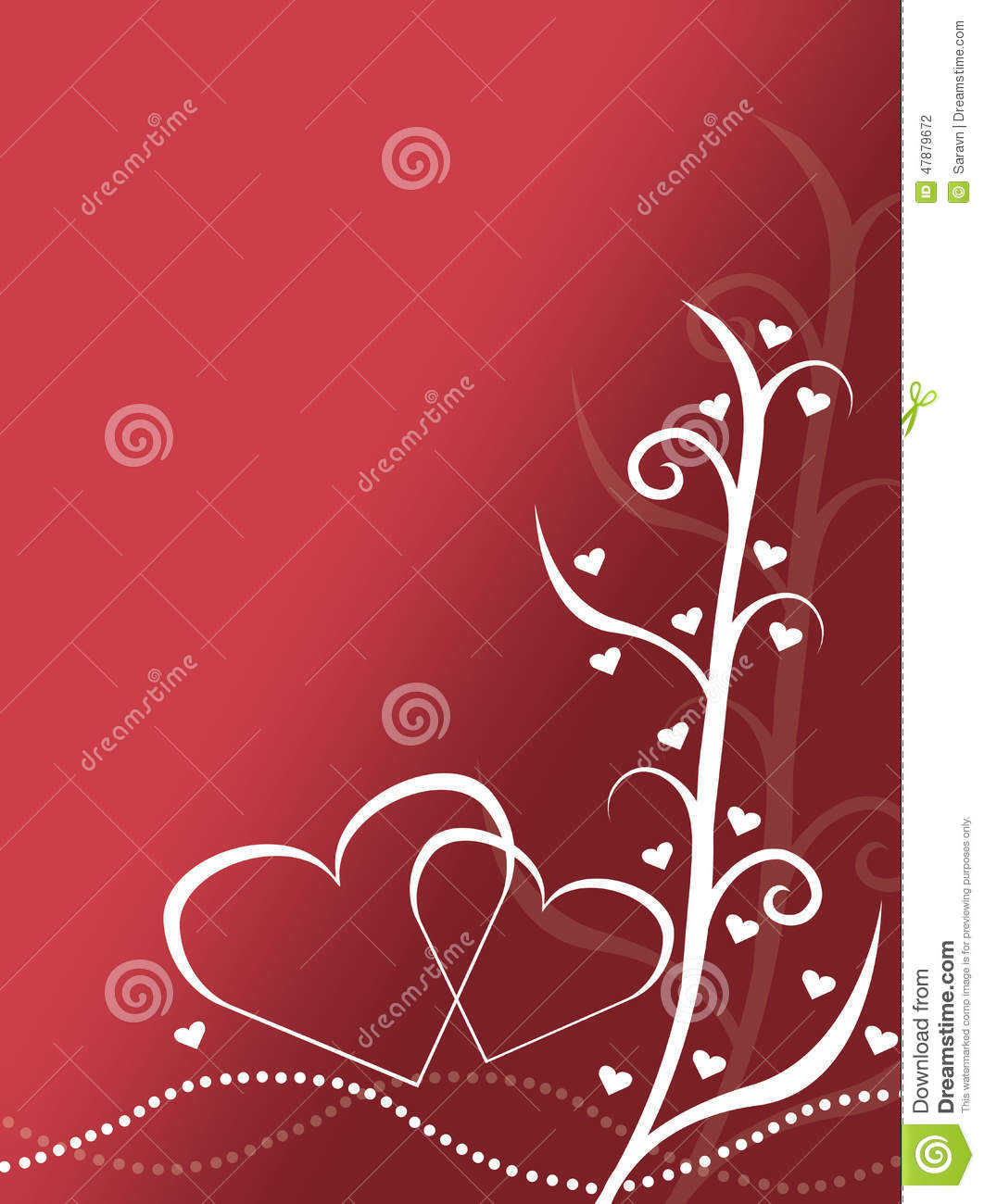 Abstract red and white valentines day card design for Valentines day card design