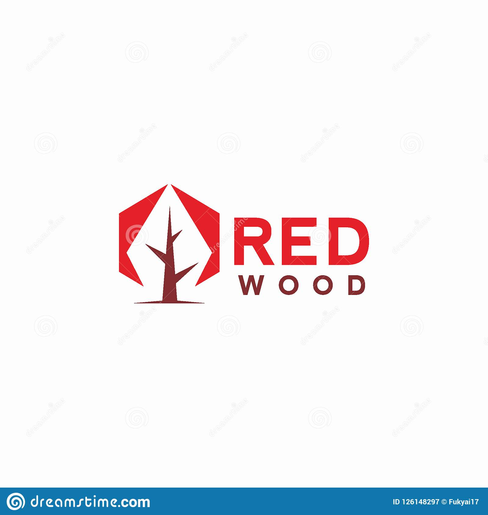 Abstract Red Wood Logo Design Concept Stock Vector Illustration of