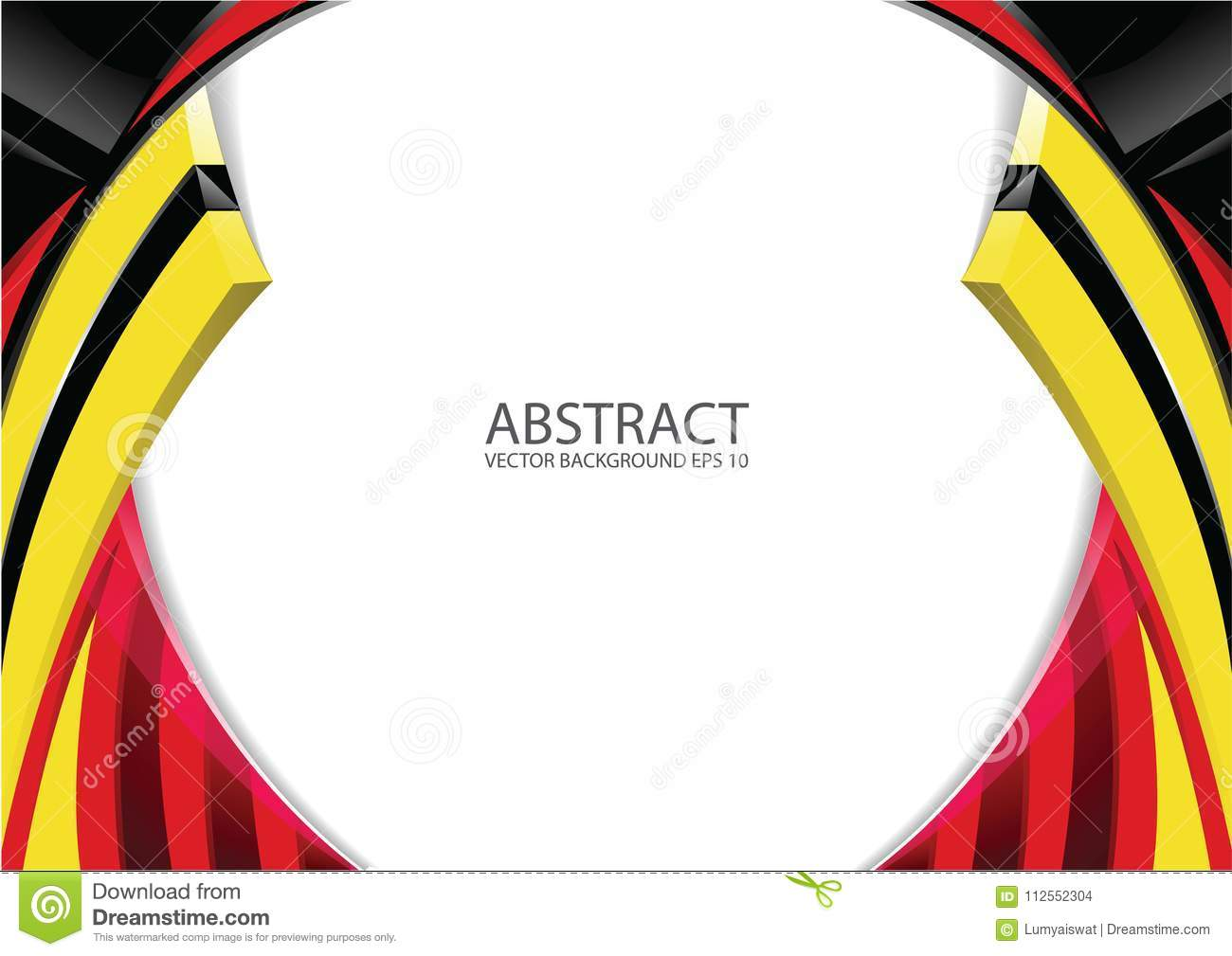 Abstract Red Yellow Black Modern Background Stock Vector