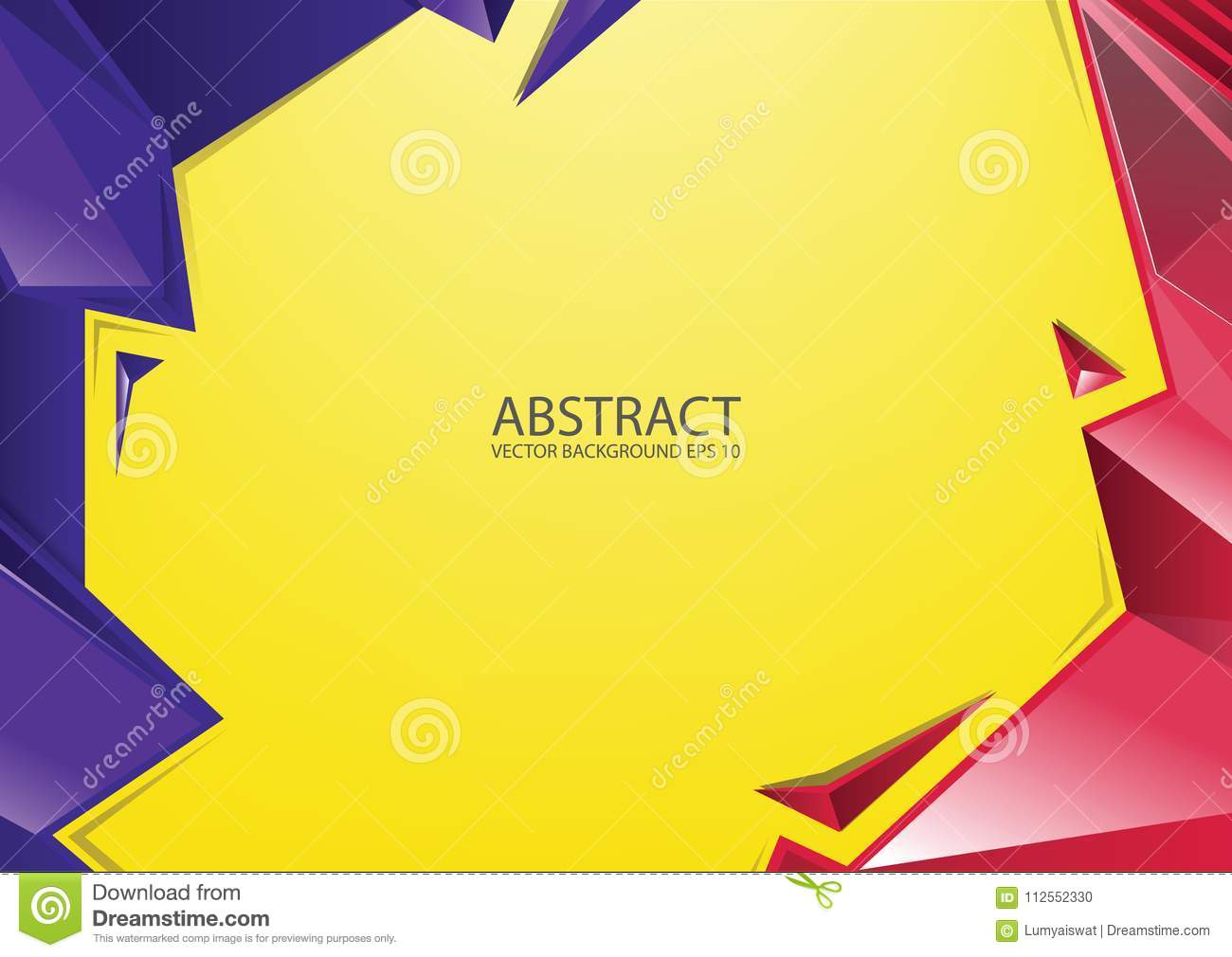 Abstract Red Yellow Blue Background Stock Vector