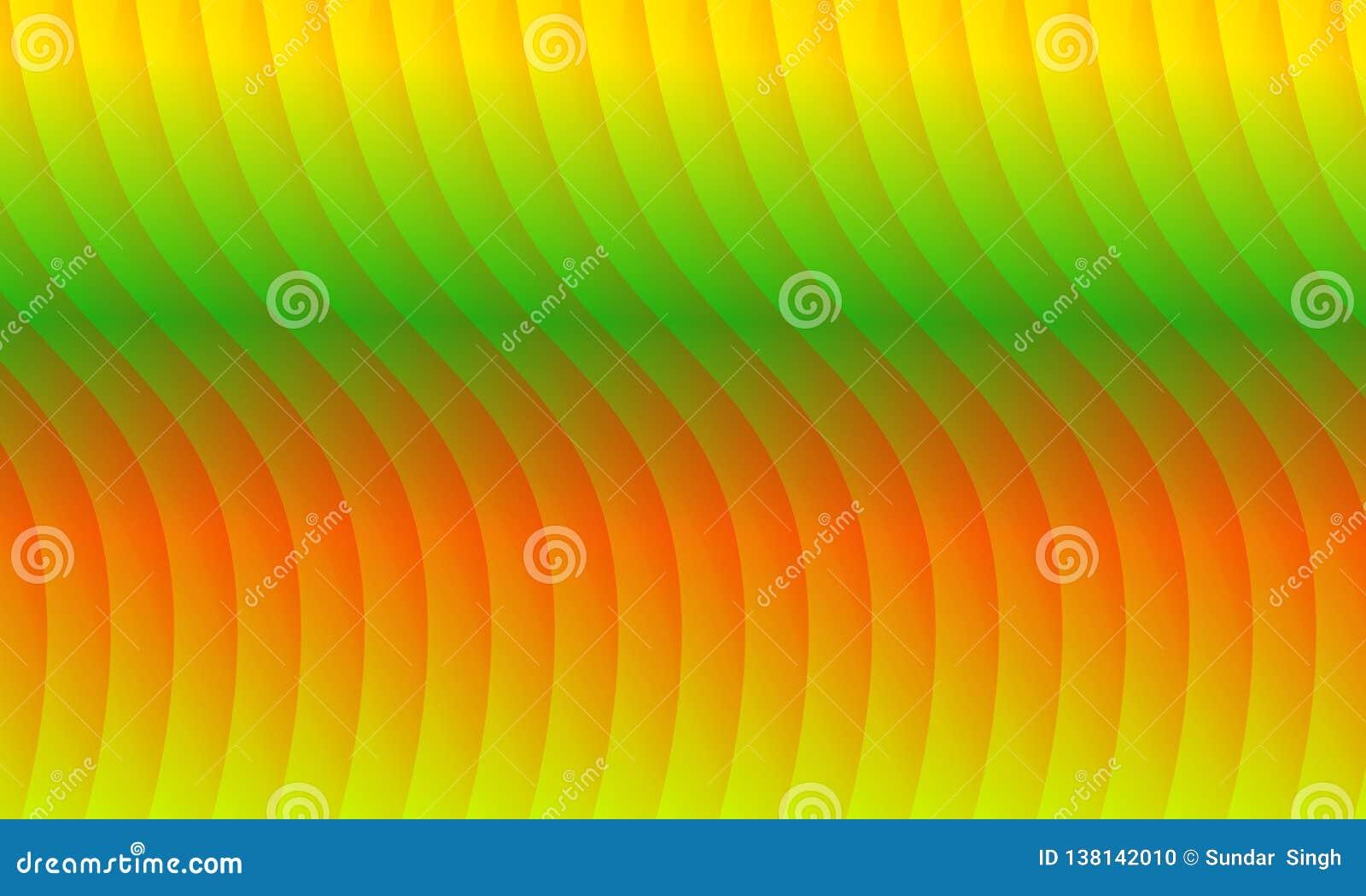 Abstract Redyellowgreenand Orange Wave Background