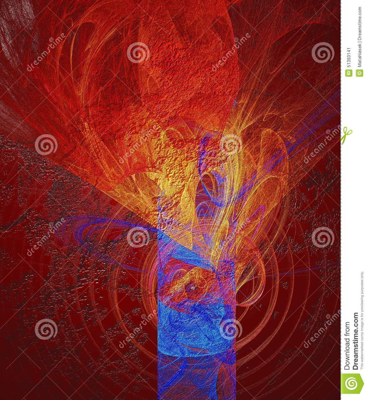 Abstract relief texture in red and blue
