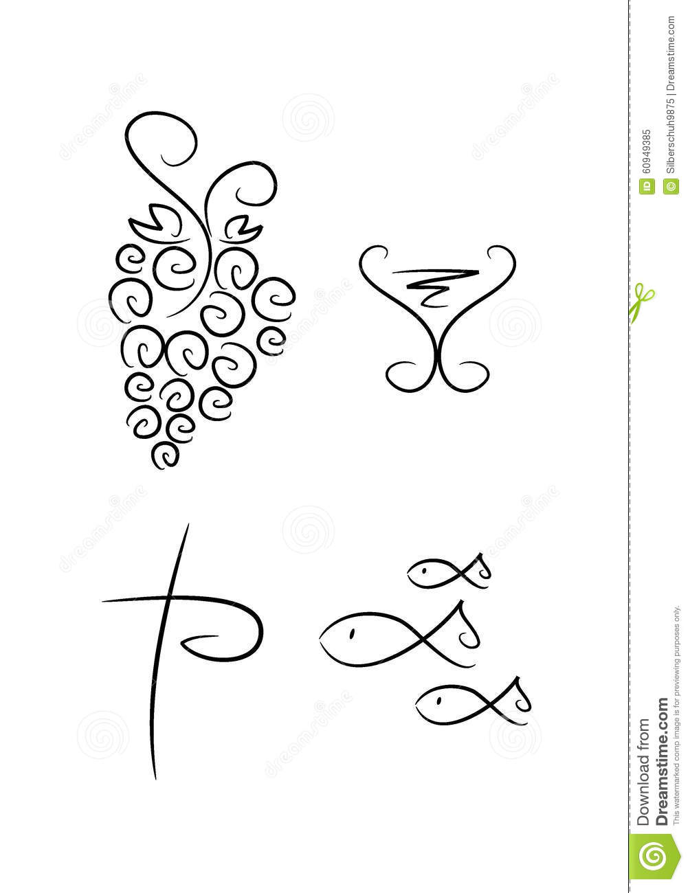 Abstract Religious Symbols Set Of 4 Stock Vector Illustration Of