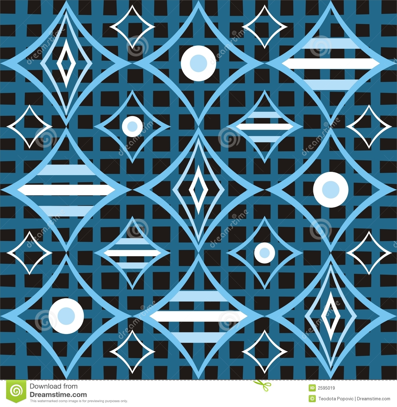 Abstract retro blue design