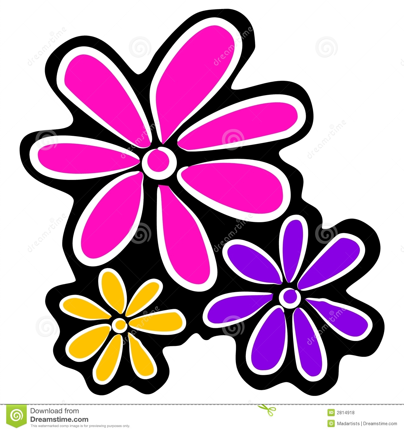 Abstract pink flowers clip art stock illustration illustration of abstract retro flowers clipart royalty free stock photos mightylinksfo Choice Image