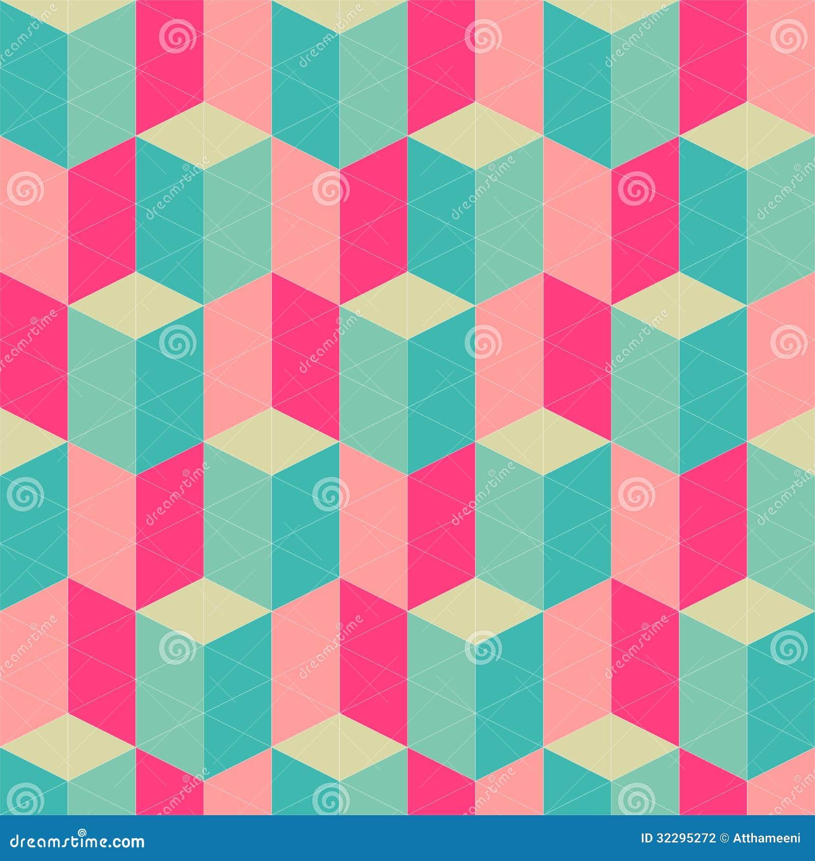 Abstract Retro Geometric Seamless Pattern Stock ...