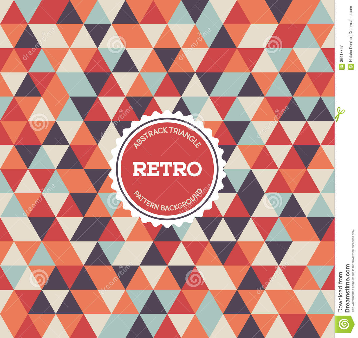 Abstract Retro Vintage Seamless Pattern Background Vector