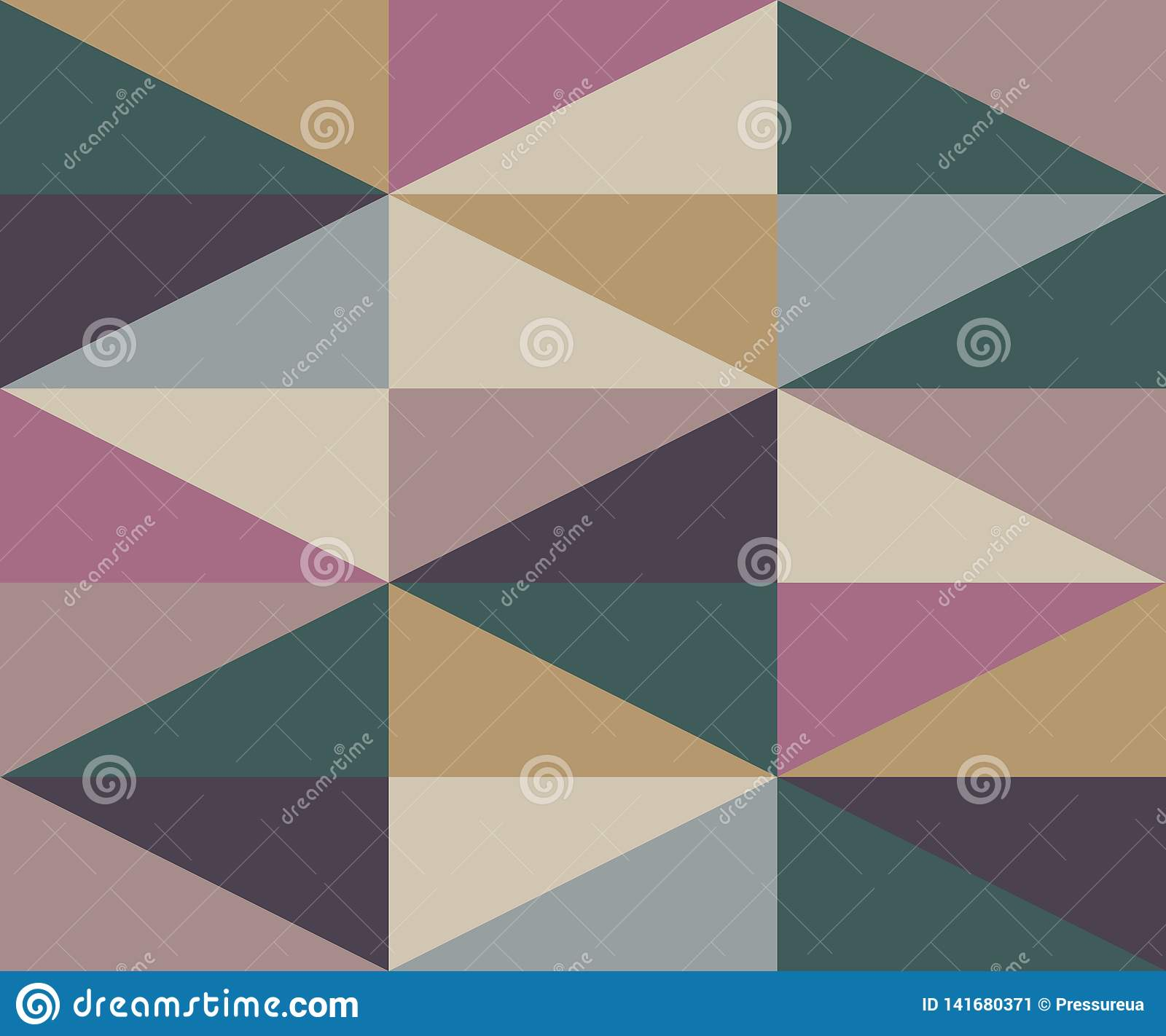 Abstract vector geometric pattern of warm colors with simple geometry shape and minimalist figures scandinavian style print design graphics for poster
