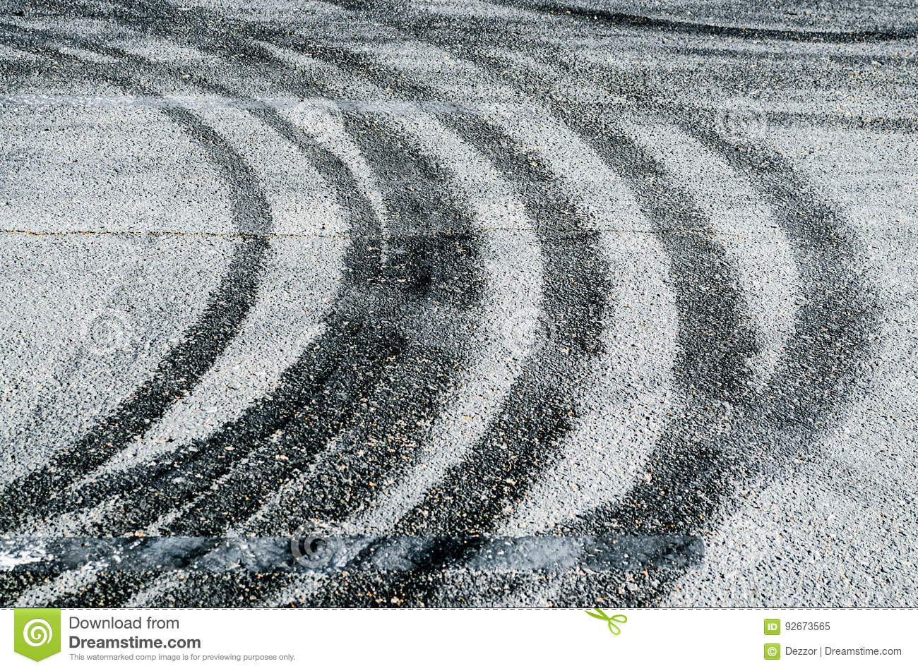 Abstract Road Background With Tracks Of Tires  Stock Image