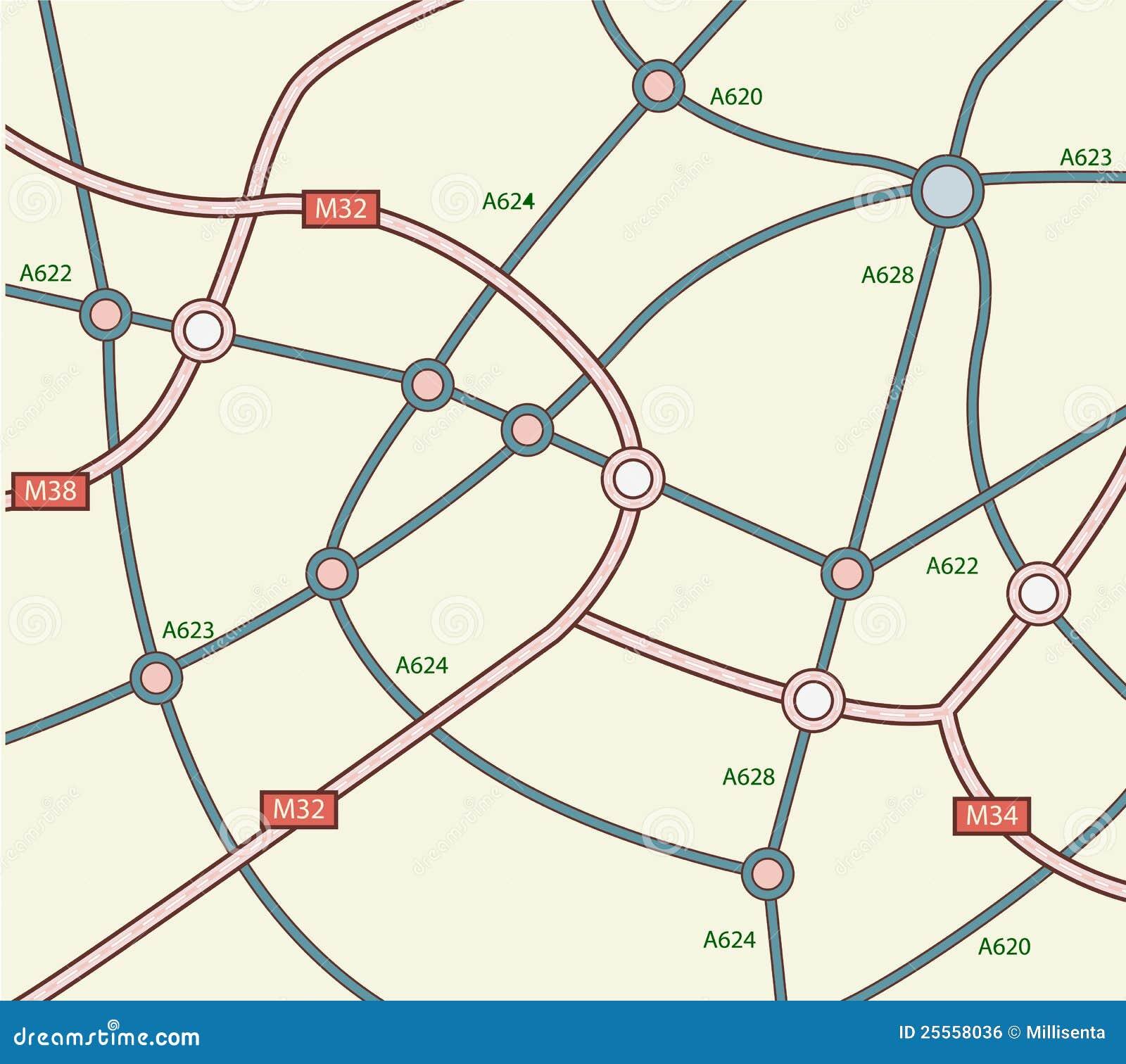 Blank Road Map: Blank Road Map