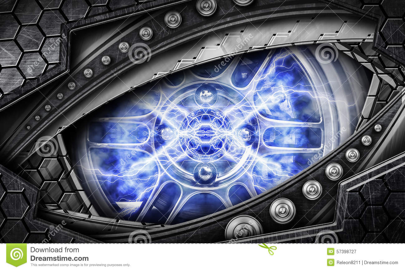 abstract robot eye background stock illustration image