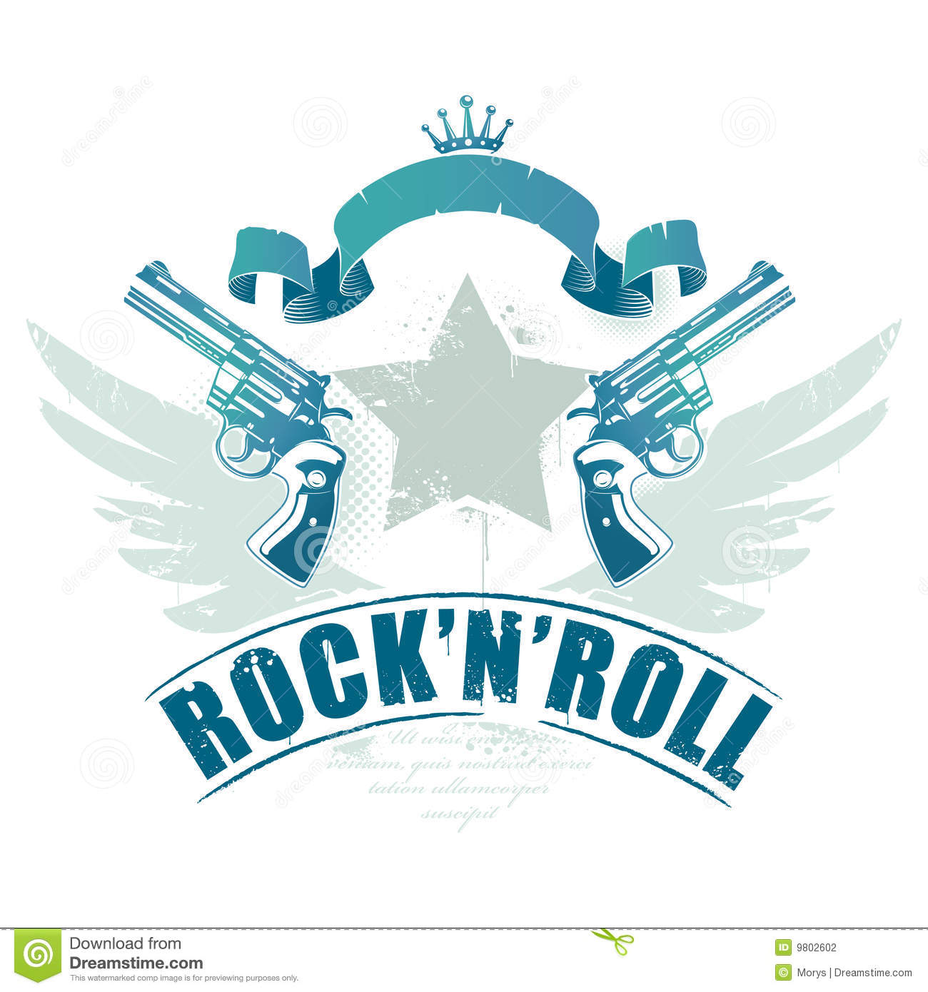 Abstract rock-n-roll image