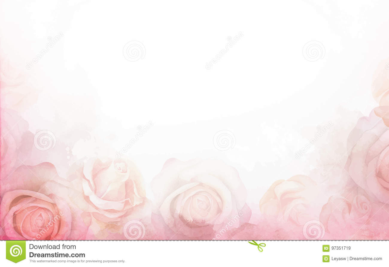 Abstract romantic rose horizontal background delicate design abstract romantic rose horizontal background delicate design template for greeting cards and invitations m4hsunfo