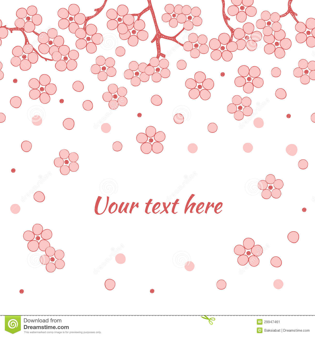 Abstract Romantic Vector Floral Background With Sakura