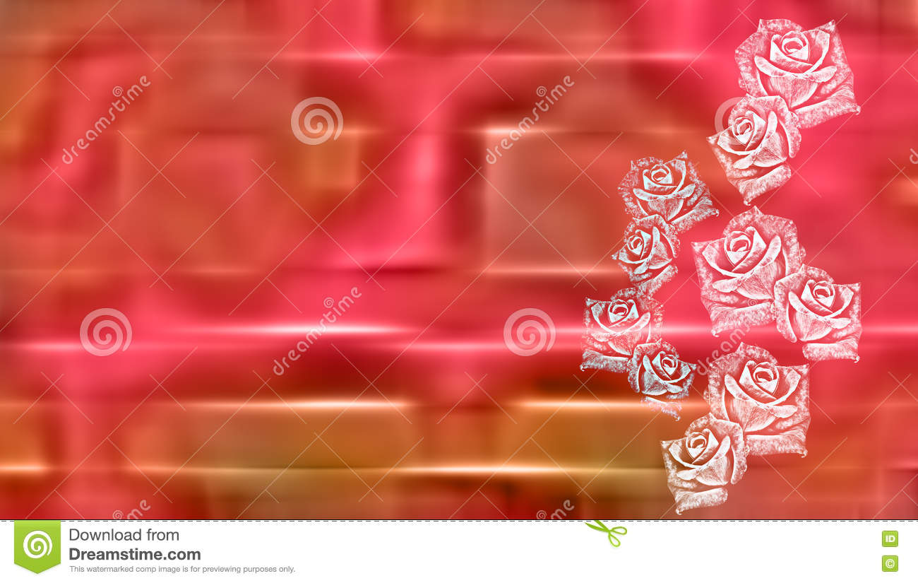 Abstract roses greeting card background