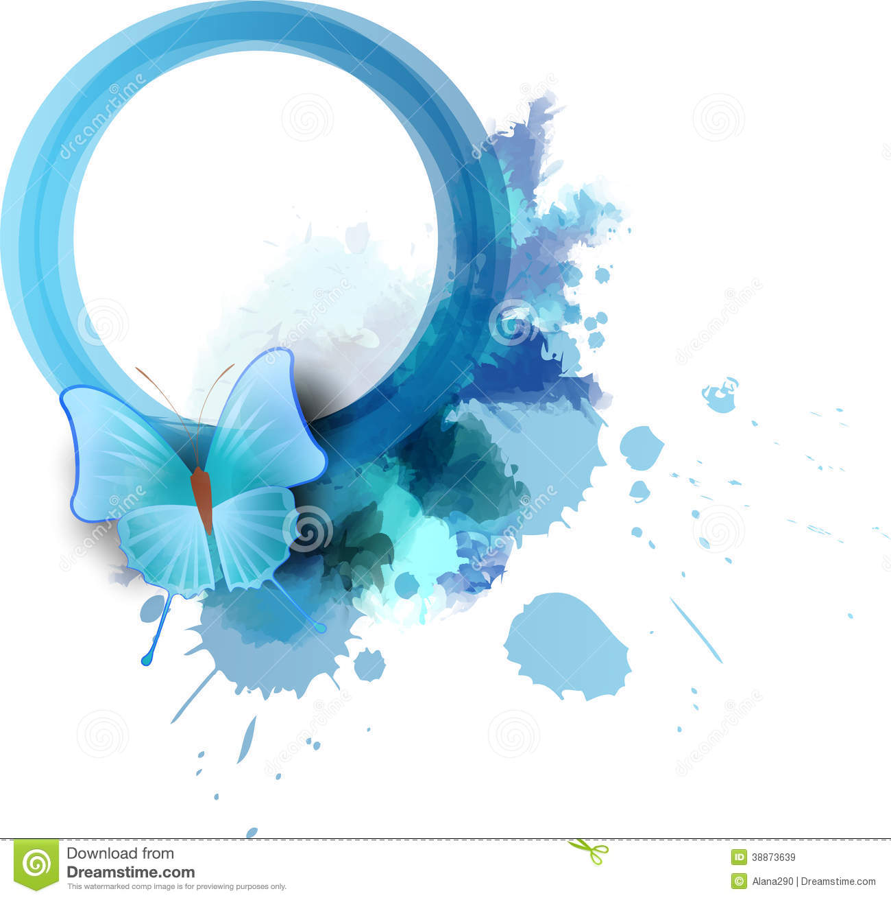 Abstract Painting Blue White