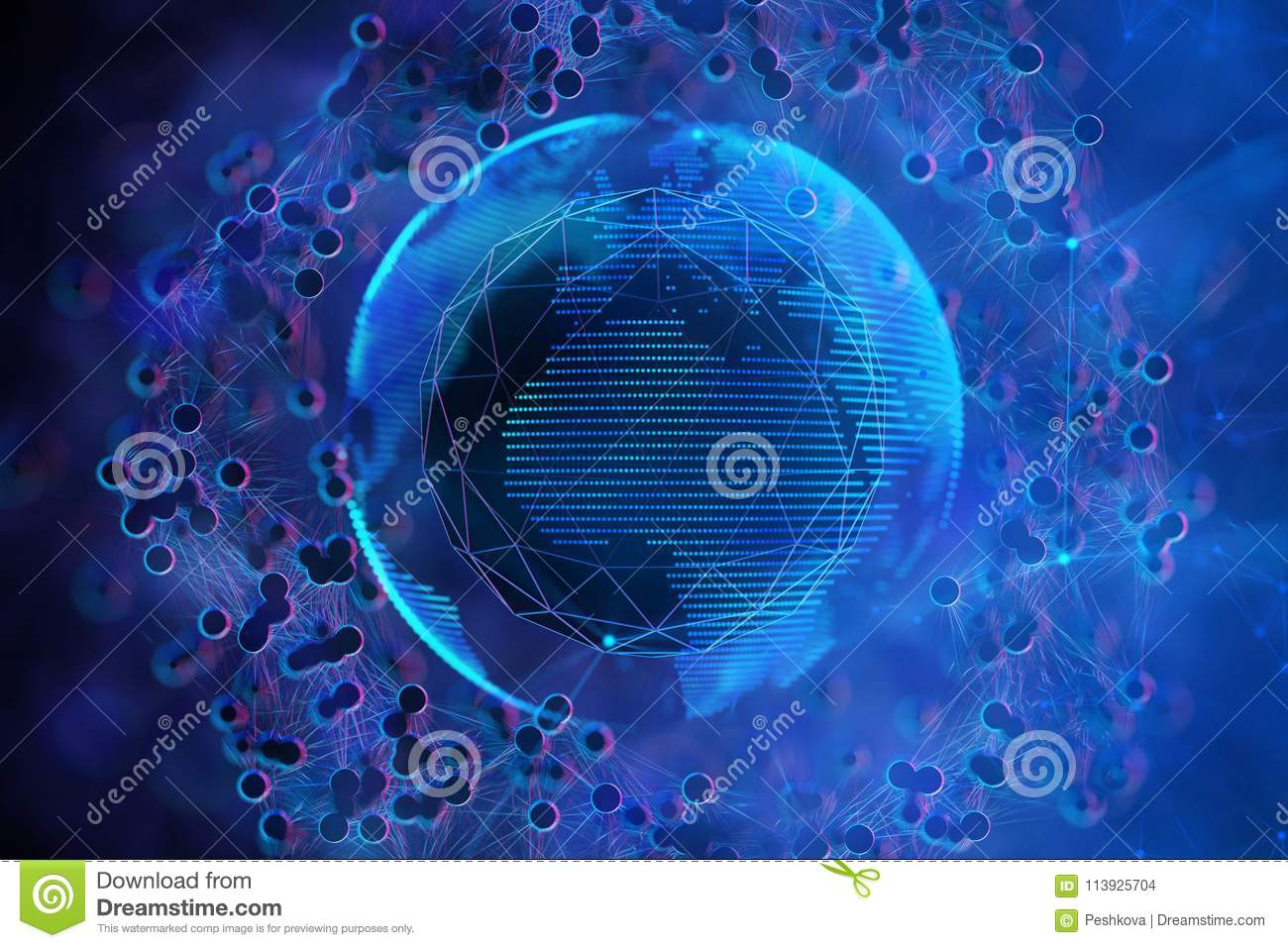 abstract globe bacteria wallpaper stock illustration - illustration