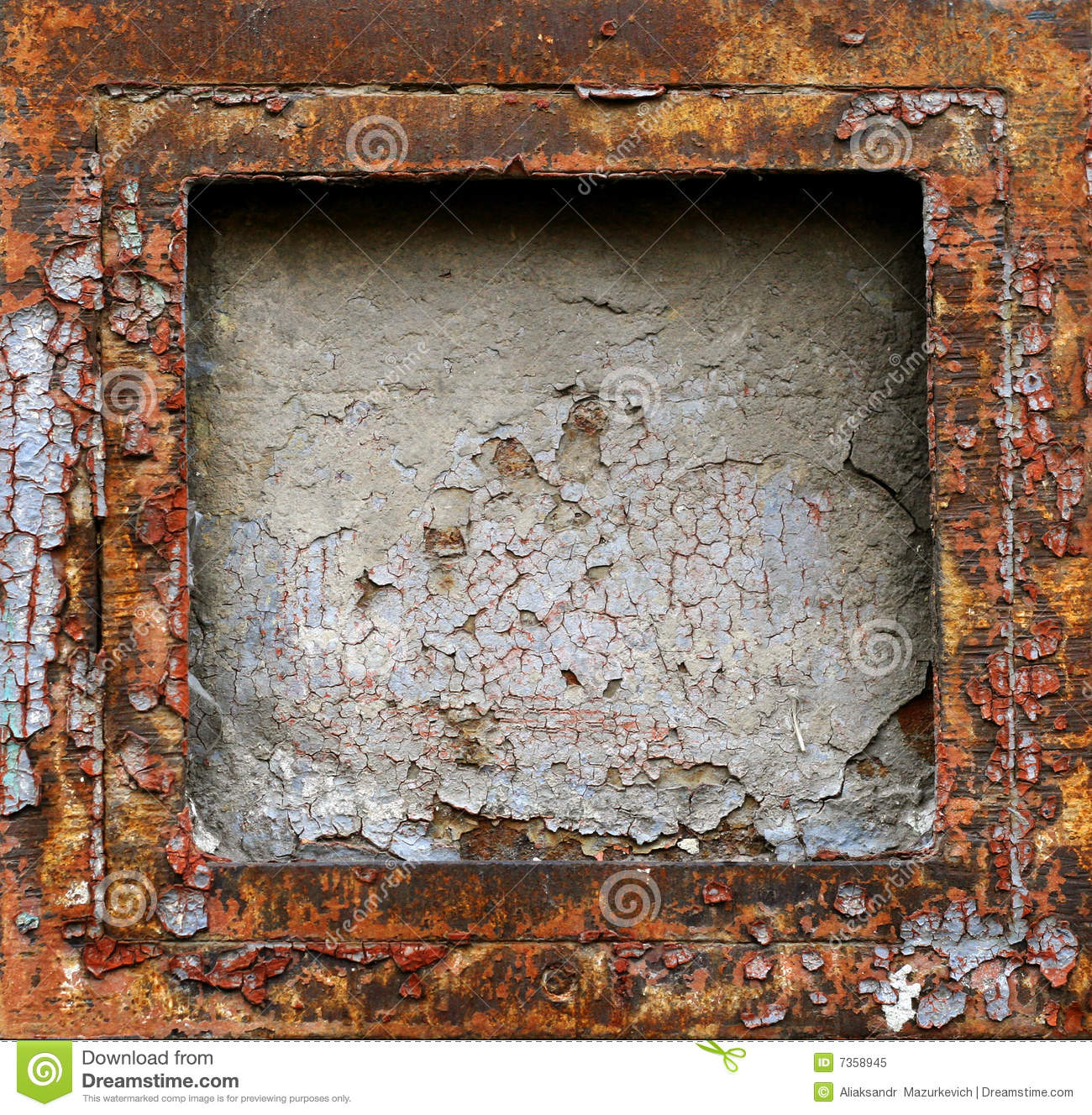 Abstract Rusty Grunge Metal Frame Stock Image - Image of industry ...