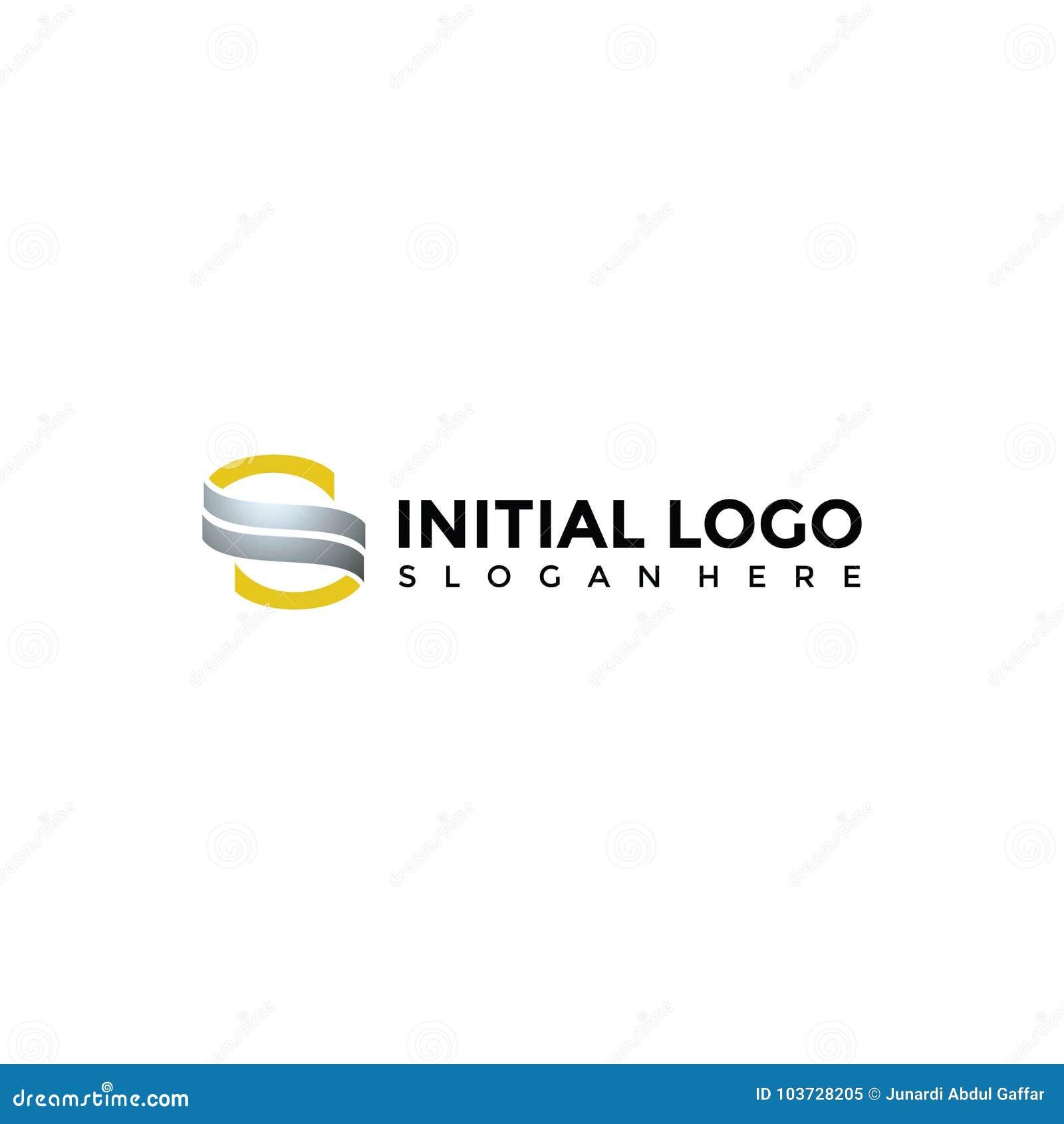 abstract s letter logo template vector illustrator eps 10 stock