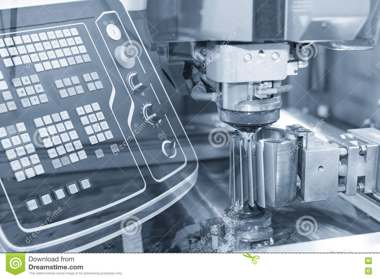 Abstract Scene Of Close-up Of The Wire - EDM CNC Machine Stock Image ...