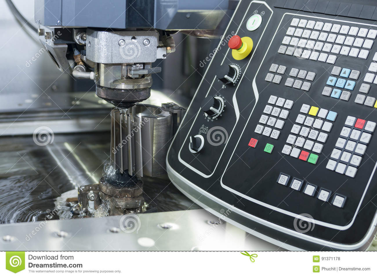 Abstract Scene Of Close-up Of The Wire - EDM CNC Machine Stock Photo ...