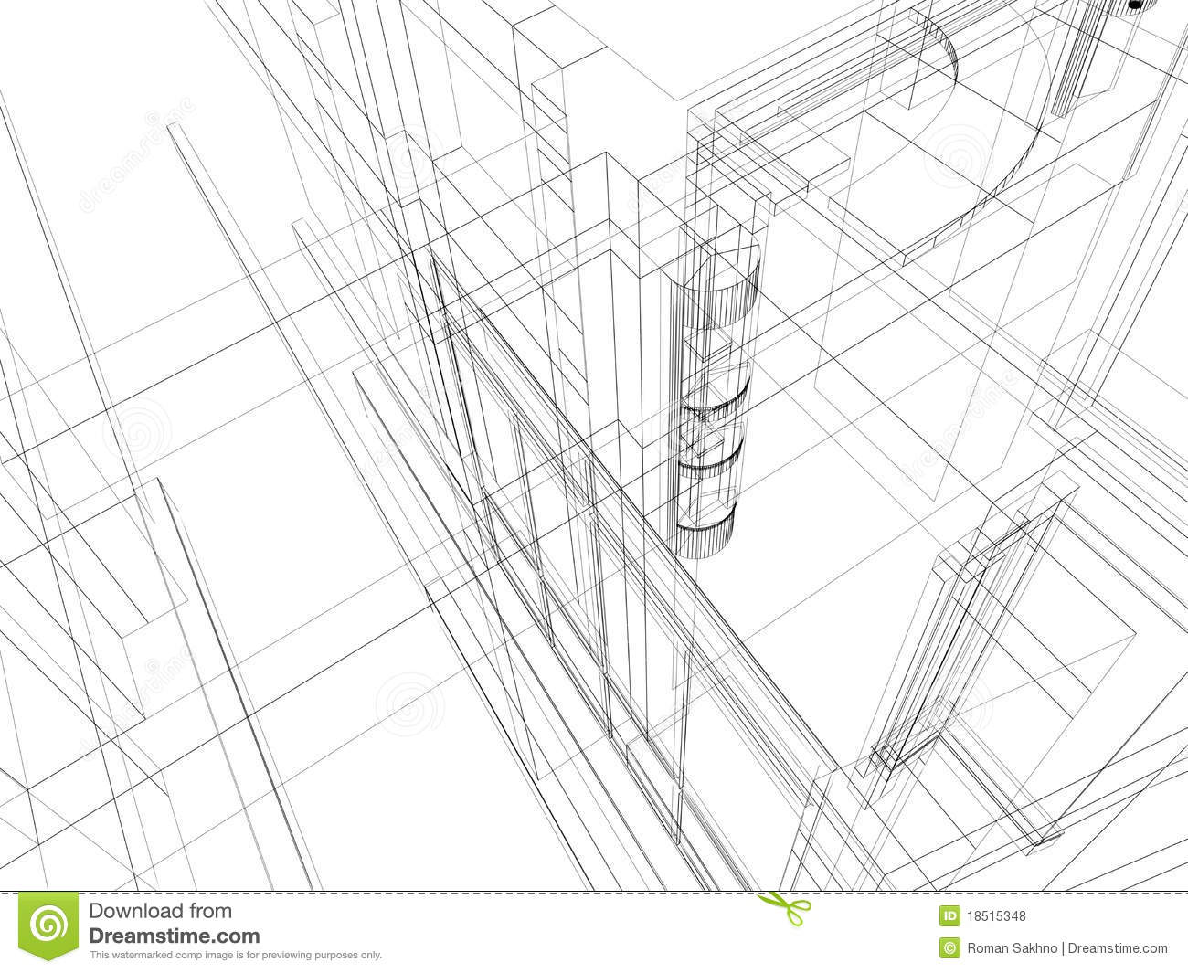 Abstract Scetch Architectural Construction Royalty Free Stock Photos Image 18515348