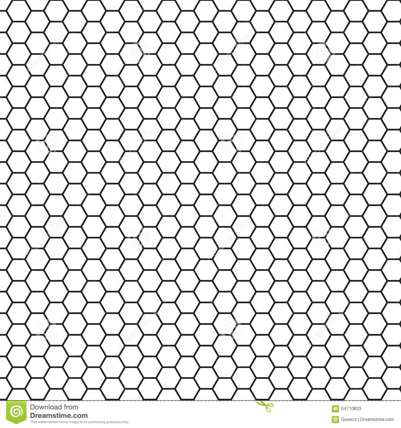 Abstract Science Hexagon Background Stock Vector Image
