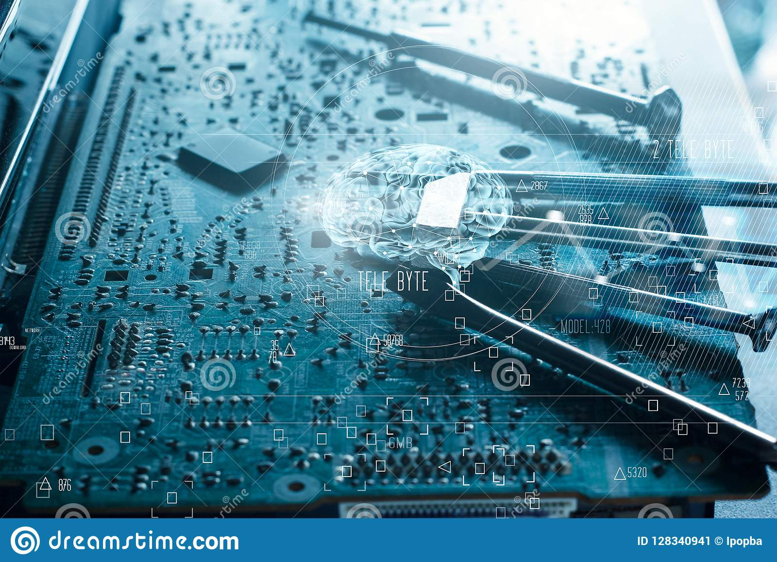 Abstract. Science and innovative. Brain and electronic circuit