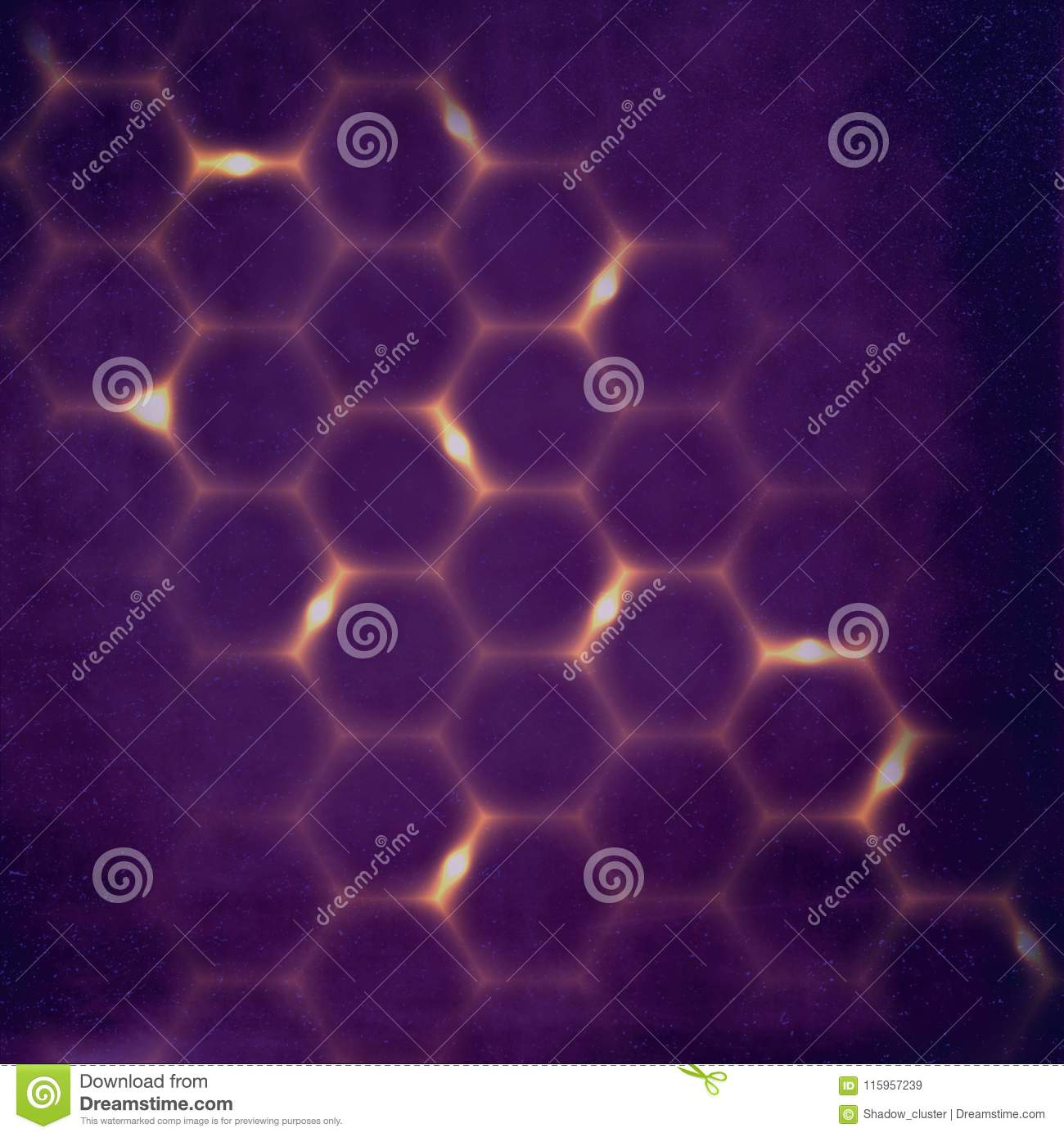 Abstract Scientific Honeycomb Background Stock