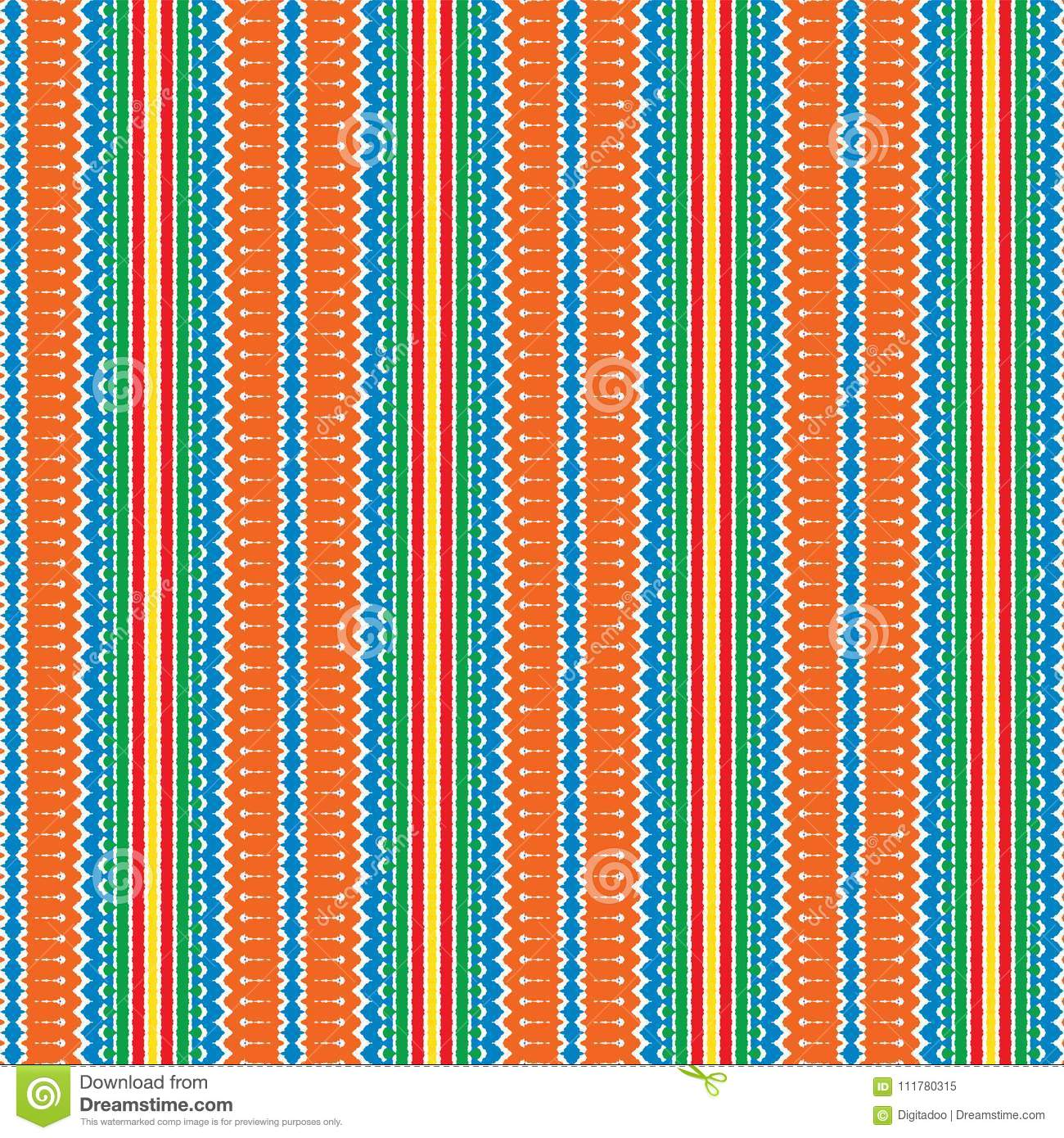Colorful Scribble Vintage Ethnic Stripe Pattern Background