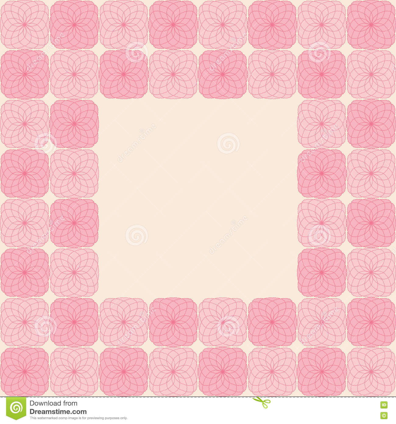 Abstract Seamless Background Mosaic Tile Pattern Frame Stock ...
