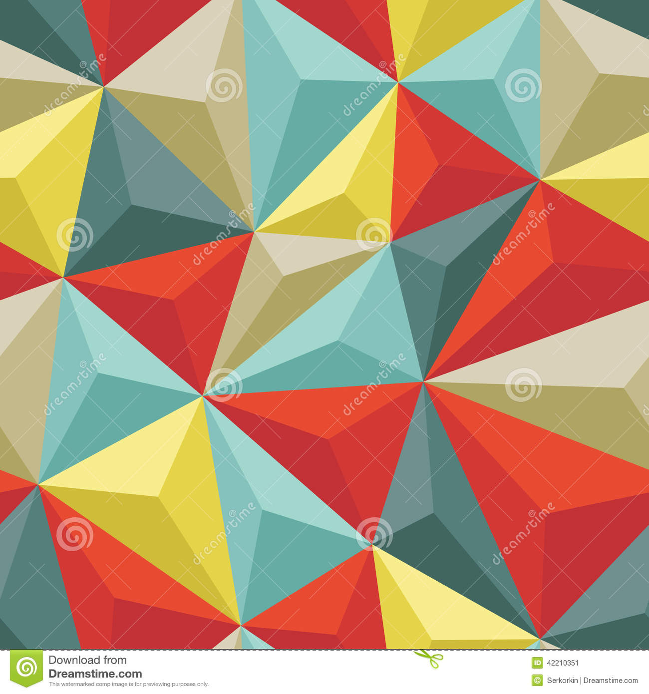 Abstract Seamless Background With Relief Triangles ...