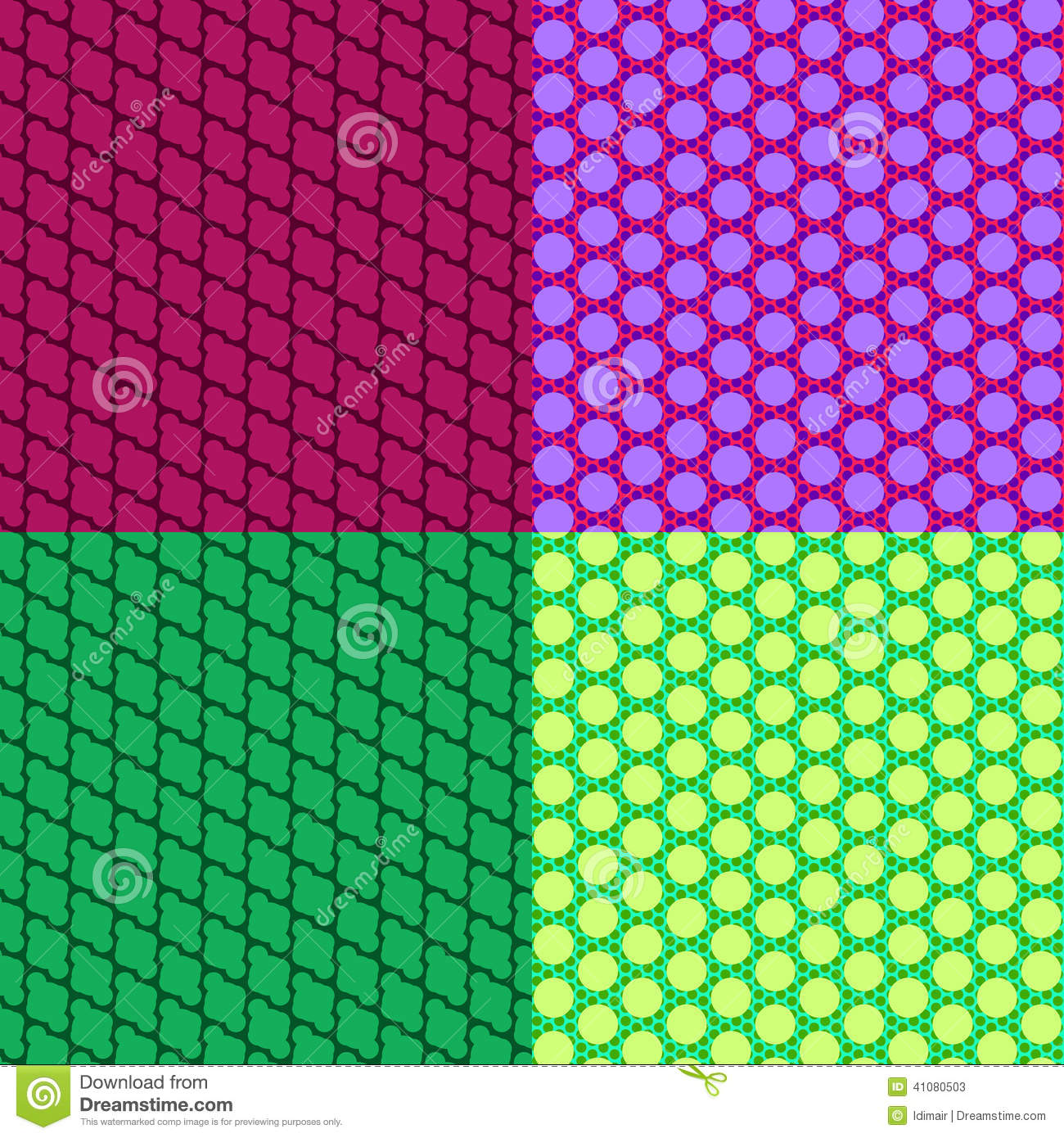 Abstract seamless colorful patterns vector stock vector for Object pool design pattern
