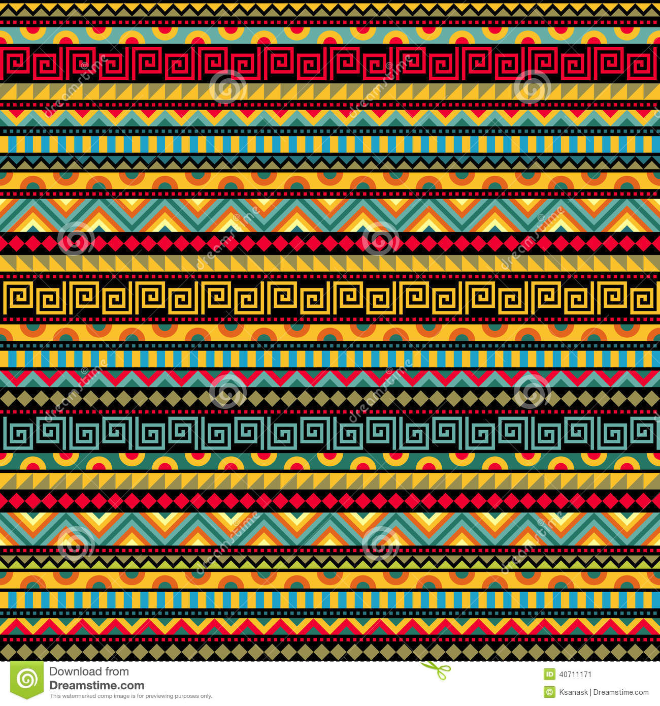 Abstract Seamless Ethnic Pattern Stock Vector