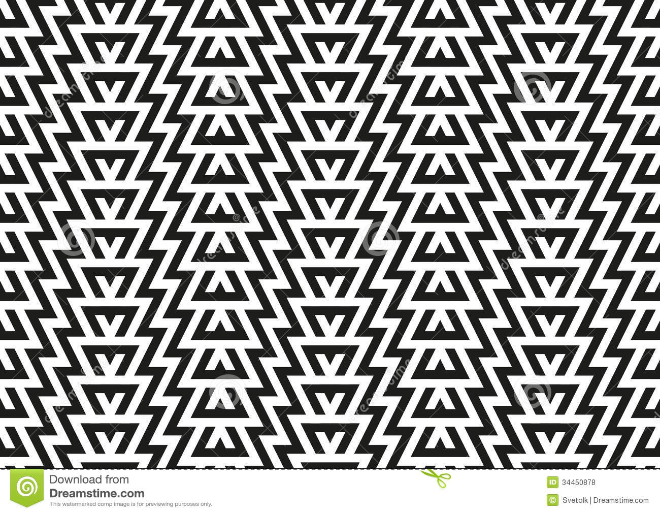 Abstract Seamless Geometric Pattern Royalty Free Stock