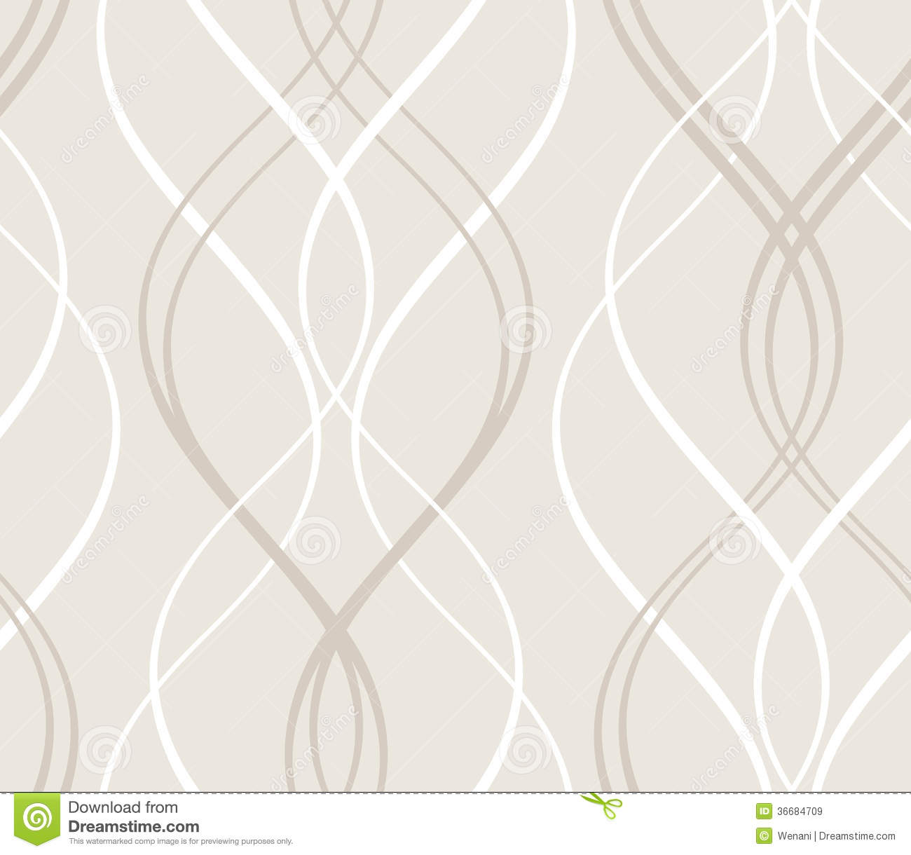 Abstract Seamless Geometric Pattern With Wavy Line Stock