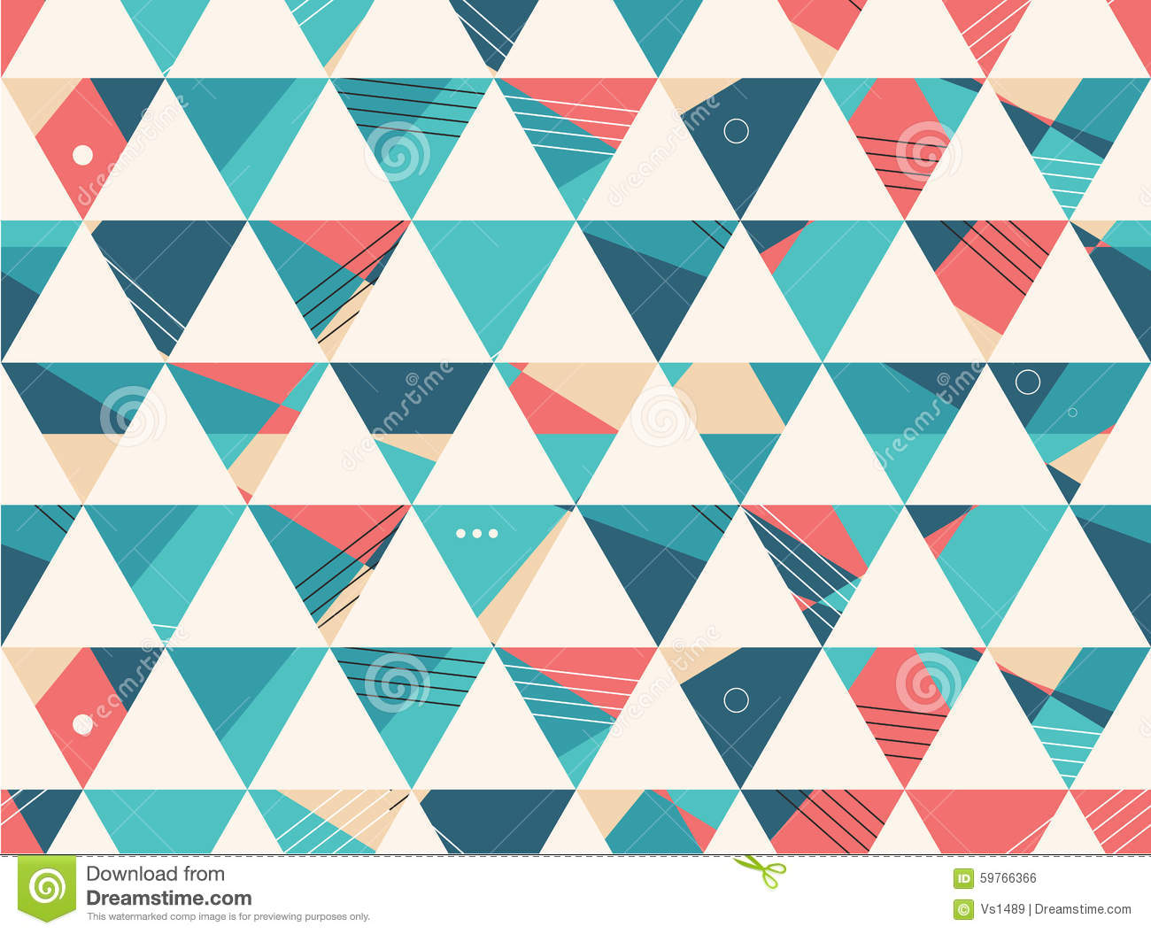 abstract seamless geometric shape vector pattern stock vector