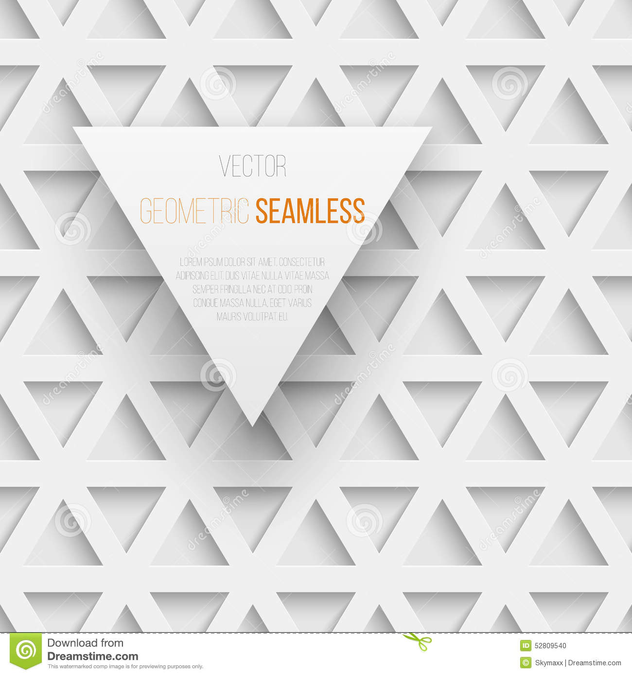 Abstract Seamless Geometric Triangle Pattern With Stock ...