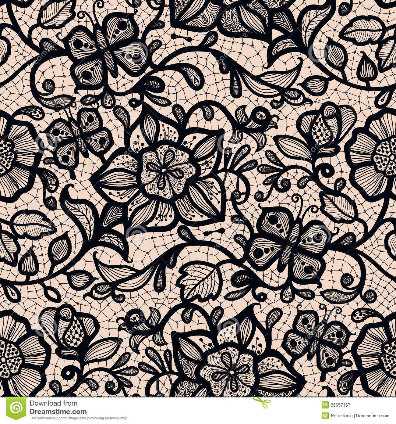 Abstract Seamless Lace Pattern With Flowers And HD Wallpapers Download Free Images Wallpaper [1000image.com]