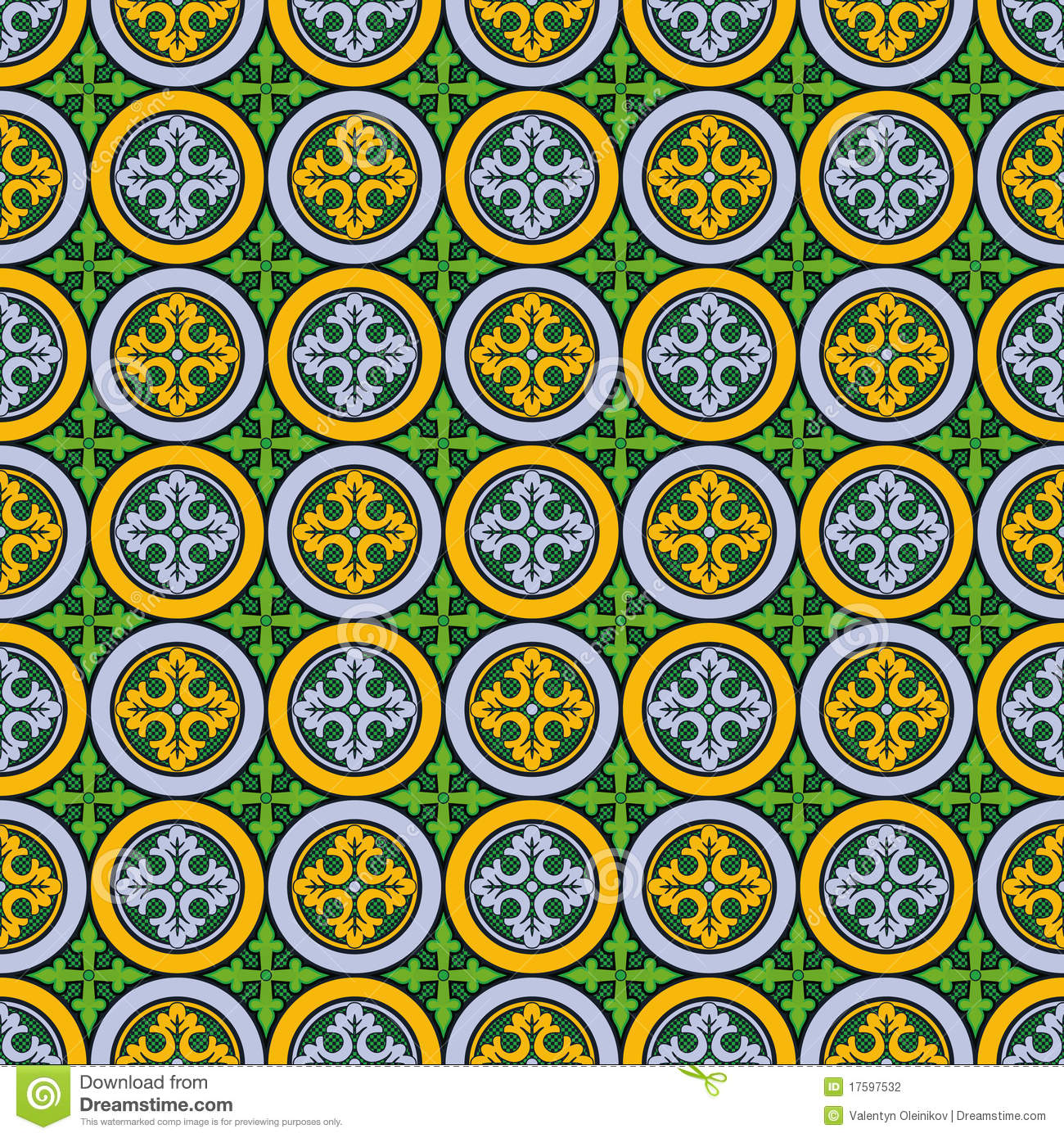 Abstract Seamless Medieval Cross Pattern Stock Photography - Image