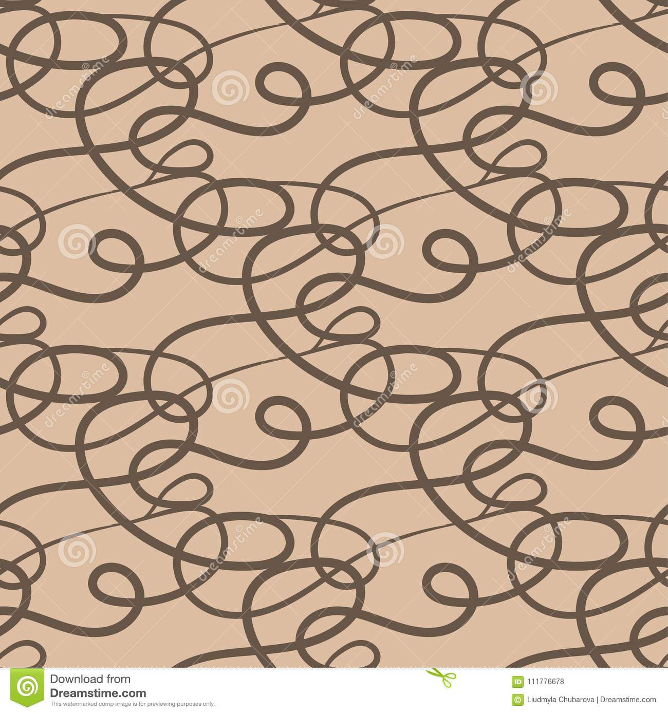 Abstract seamless pattern. Beige and brown background for textile and fabrics