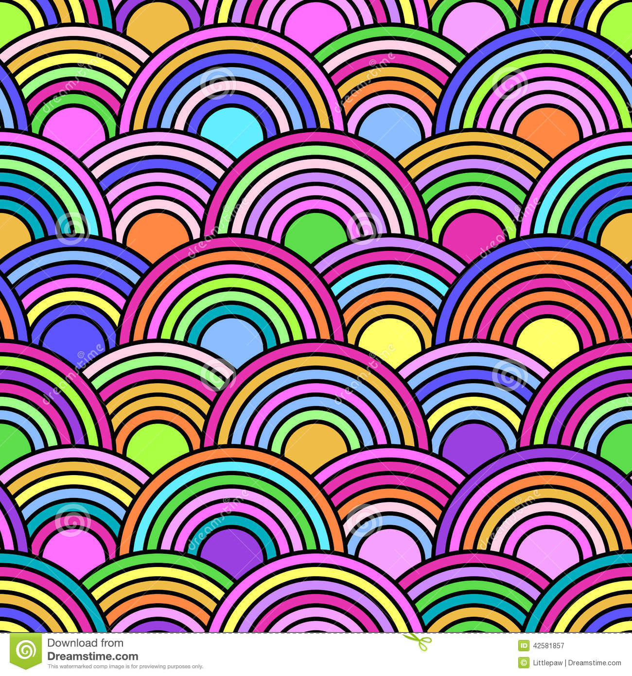 ... Seamless Pattern With Colorful Circles Stock Vector - Image: 42581857