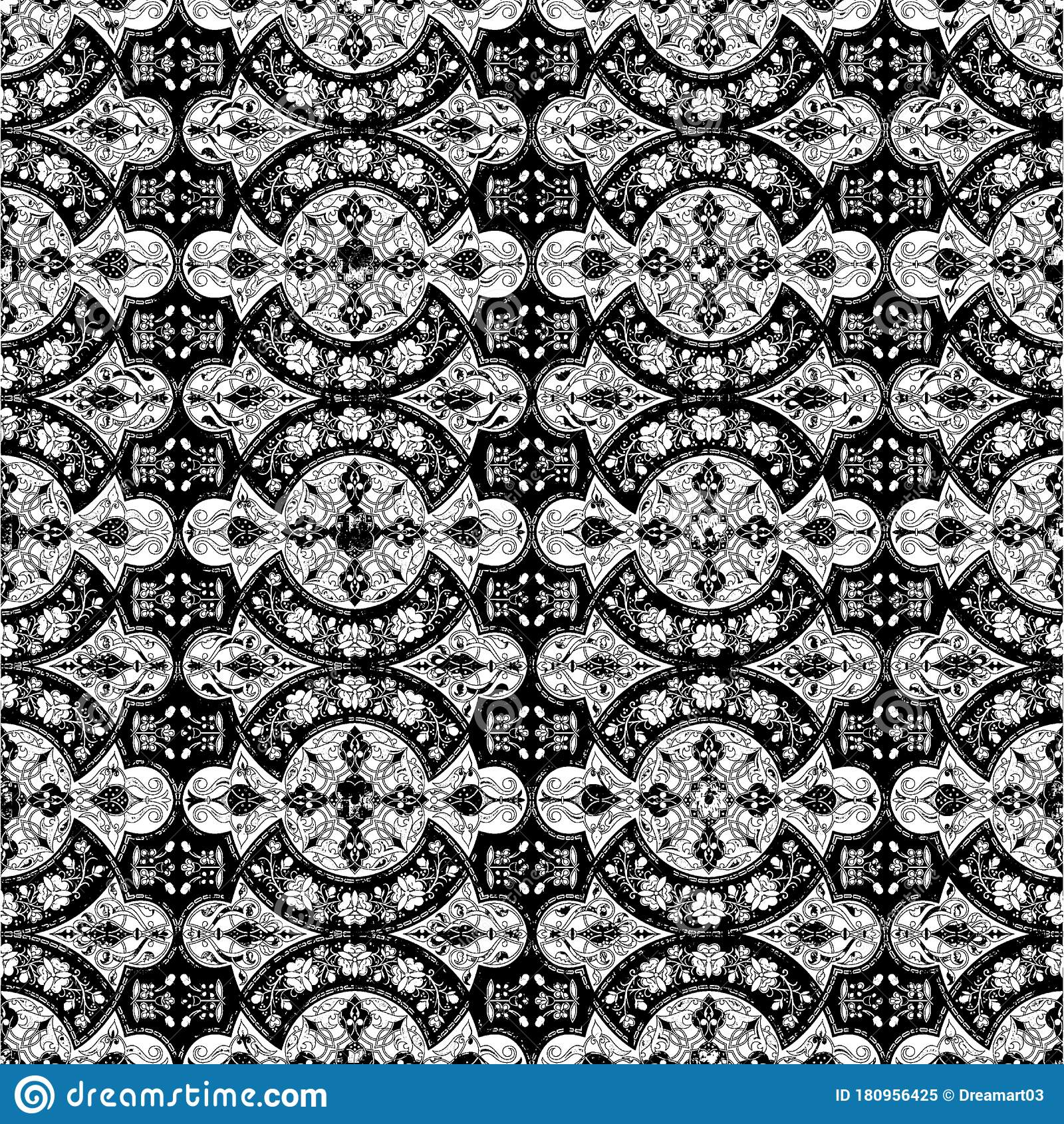 Abstract Seamless Pattern With Abstract Geometric Style ...