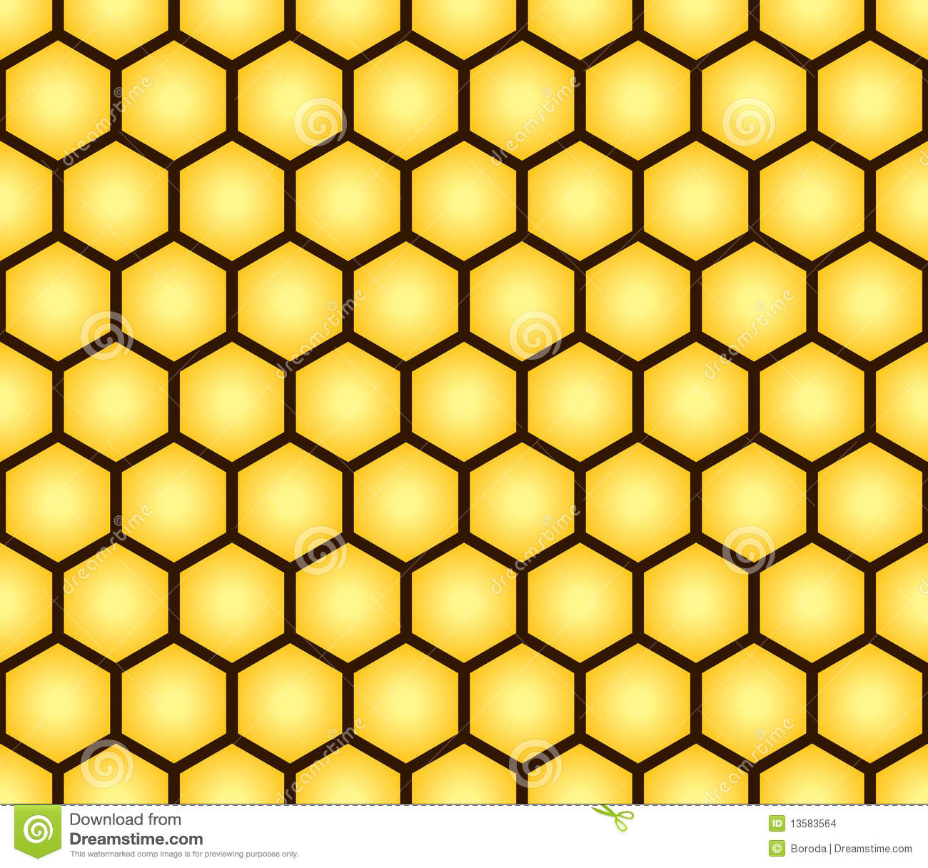 Abstract Seamless Pattern Of Honeycomb Form Stock Images - Image ...