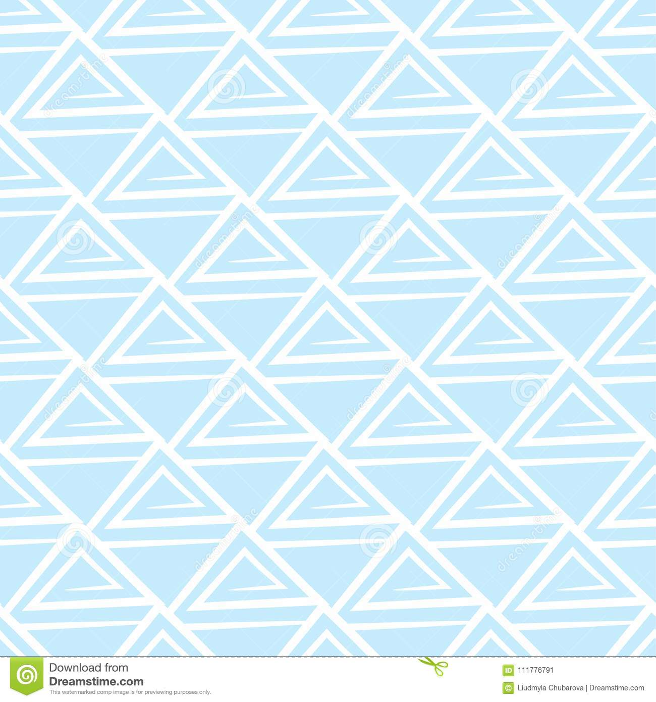 Abstract seamless pattern. Light blue and white background for textile and fabrics