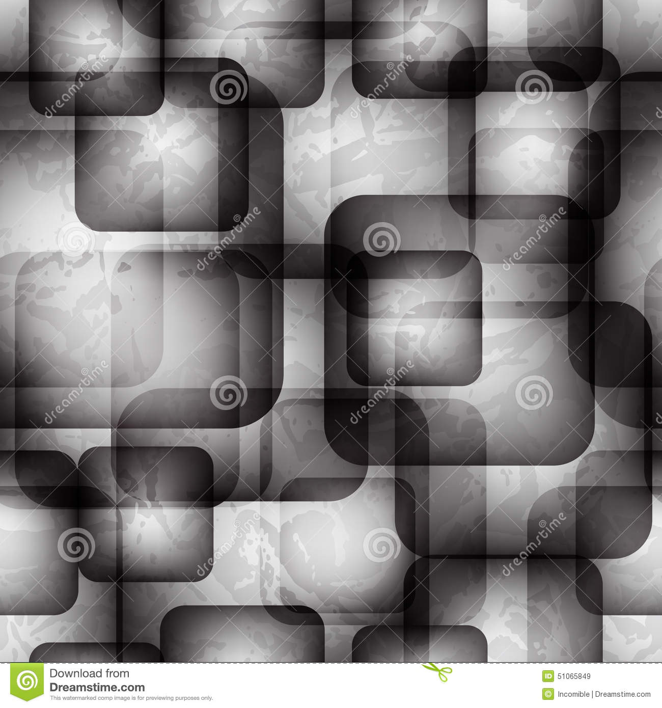Abstract seamless pattern with transparent squares