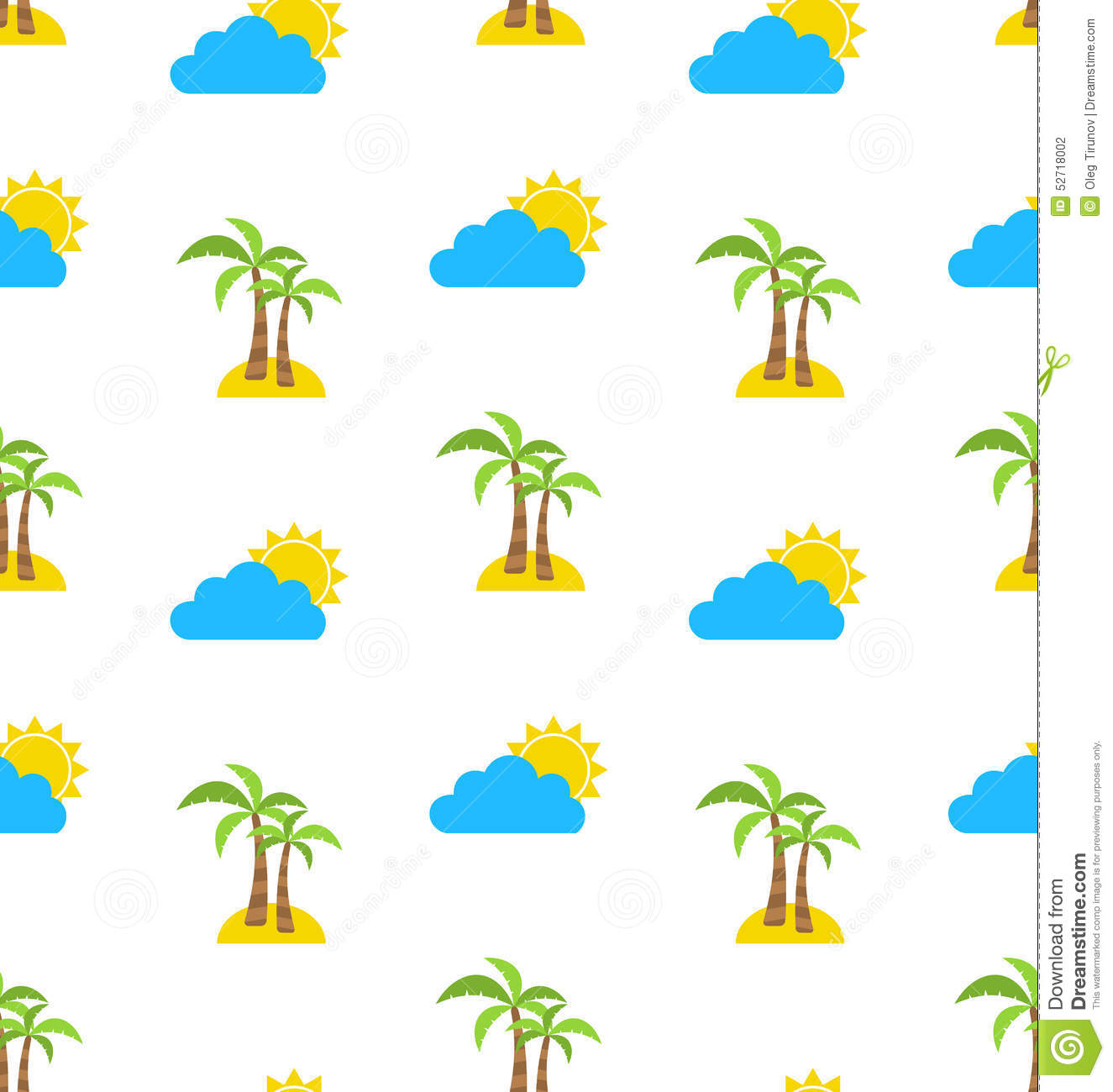 Palm trees seamless pattern vector illustration for Print wallpaper designs