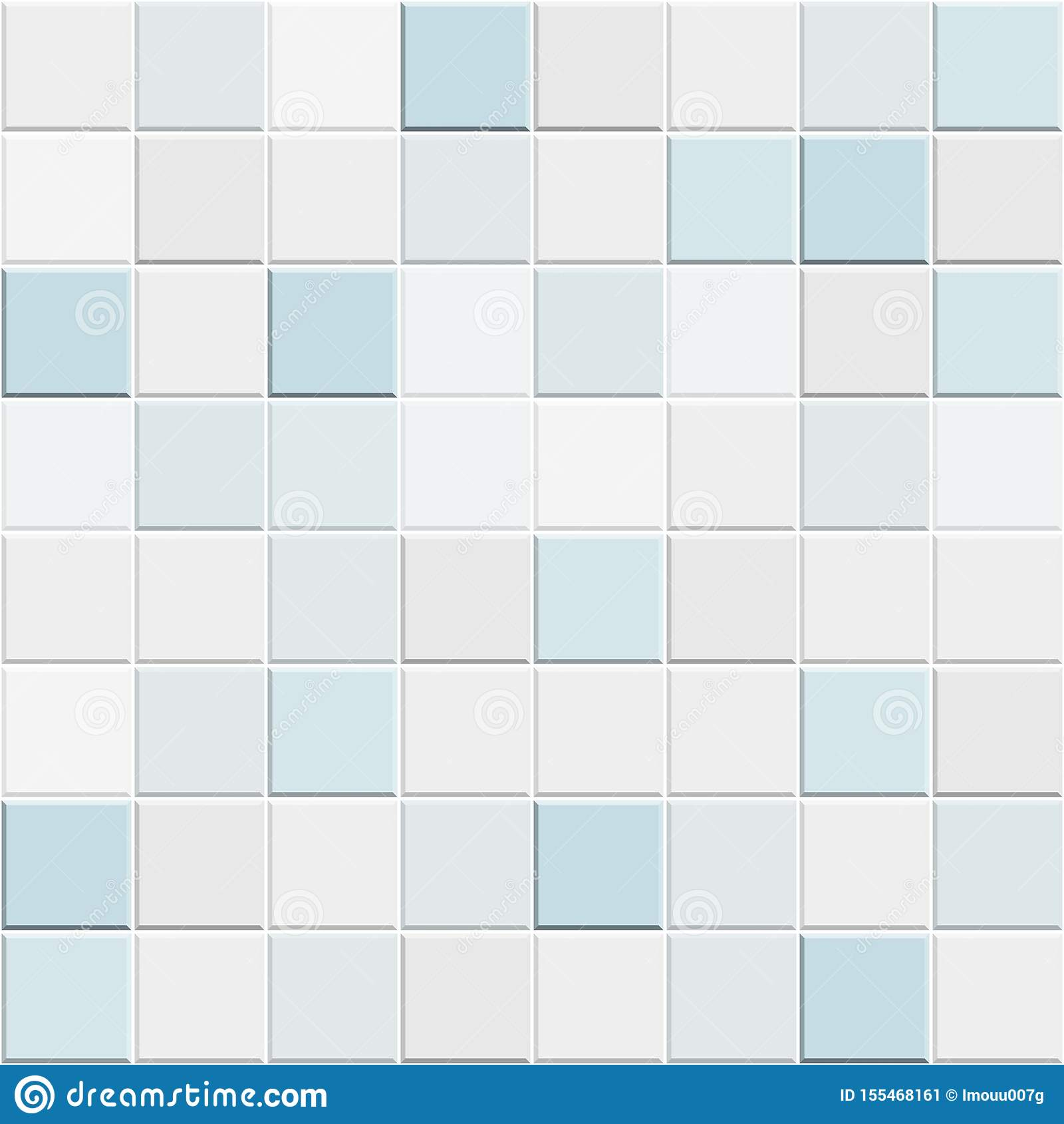 Abstract Seamless Pattern Of White Blue Ceramic Wall And Floor Tiles Design Geometric Mosaic Texture For The Decoration Of The Bat Stock Vector Illustration Of Decoration Brown 155468161